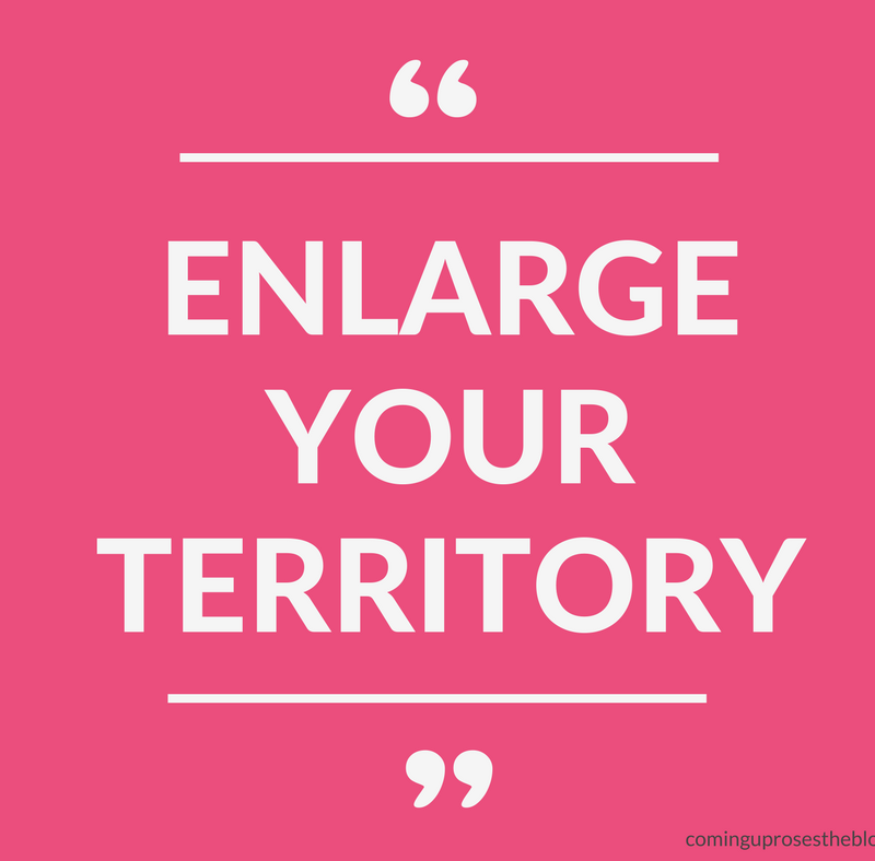 """Enlarge your Territory."" - Monday Mantra on Coming Up Roses - Lessons from Luke 5 by popular lifestyle blogger Coming Up Roses"