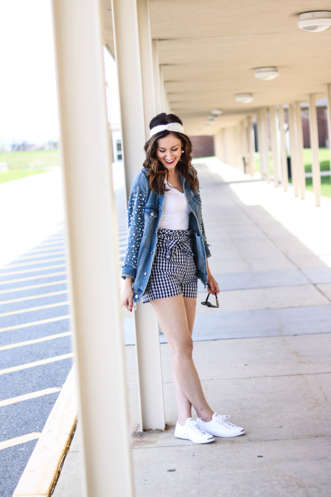 1 Thing, 3 Ways: Gingham Shorts - Styling gingham shorts 3 different ways for summer on Coming up Roses!