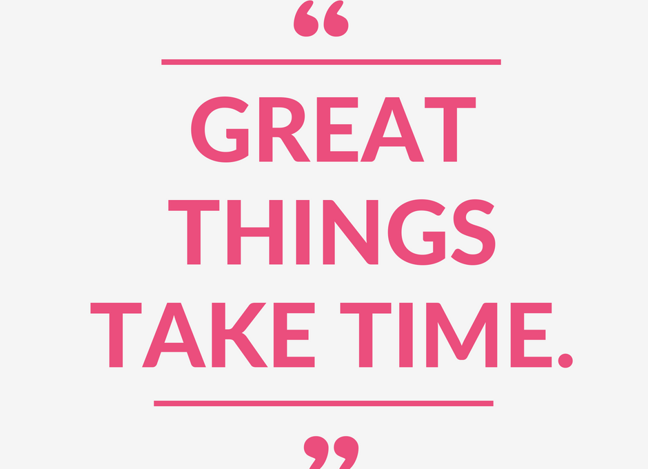 """Great things take time."" (+ $1,000 Nordstrom Giveaway!)"