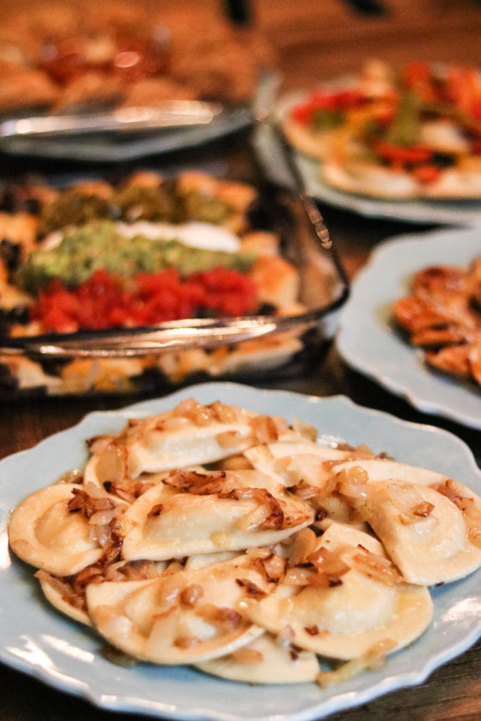 Dinner is served! Philadelphia lifestyle blogger, Erica of Coming Up Roses, whips up 5 easy pierogy recipes using Mrs. T's Pierogies. Yum!