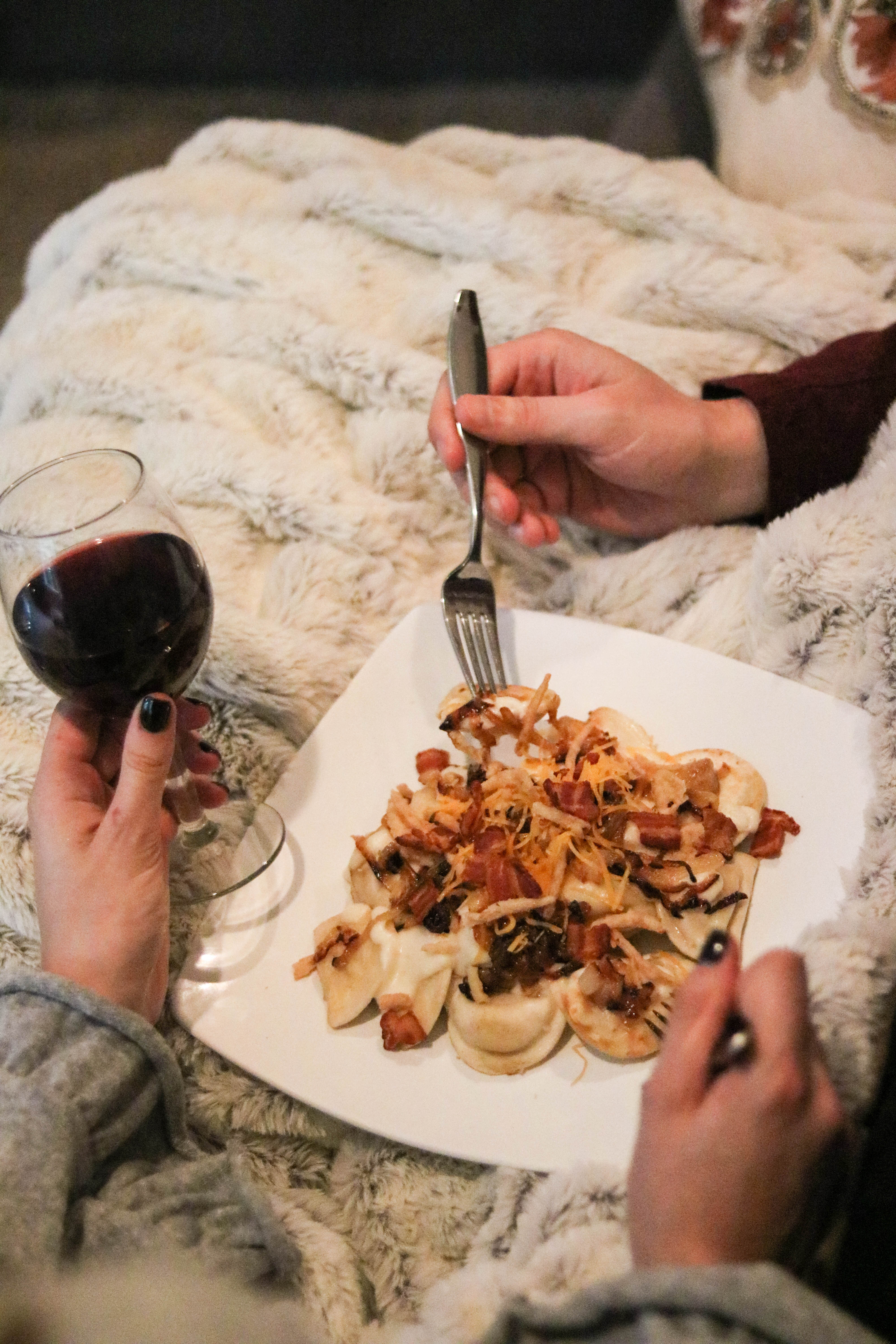 Easy Comfort Food + Playlist for a Cozy Date Night In - 15 Minute Meal with Mrs. T's Pierogies on Coming Up Roses