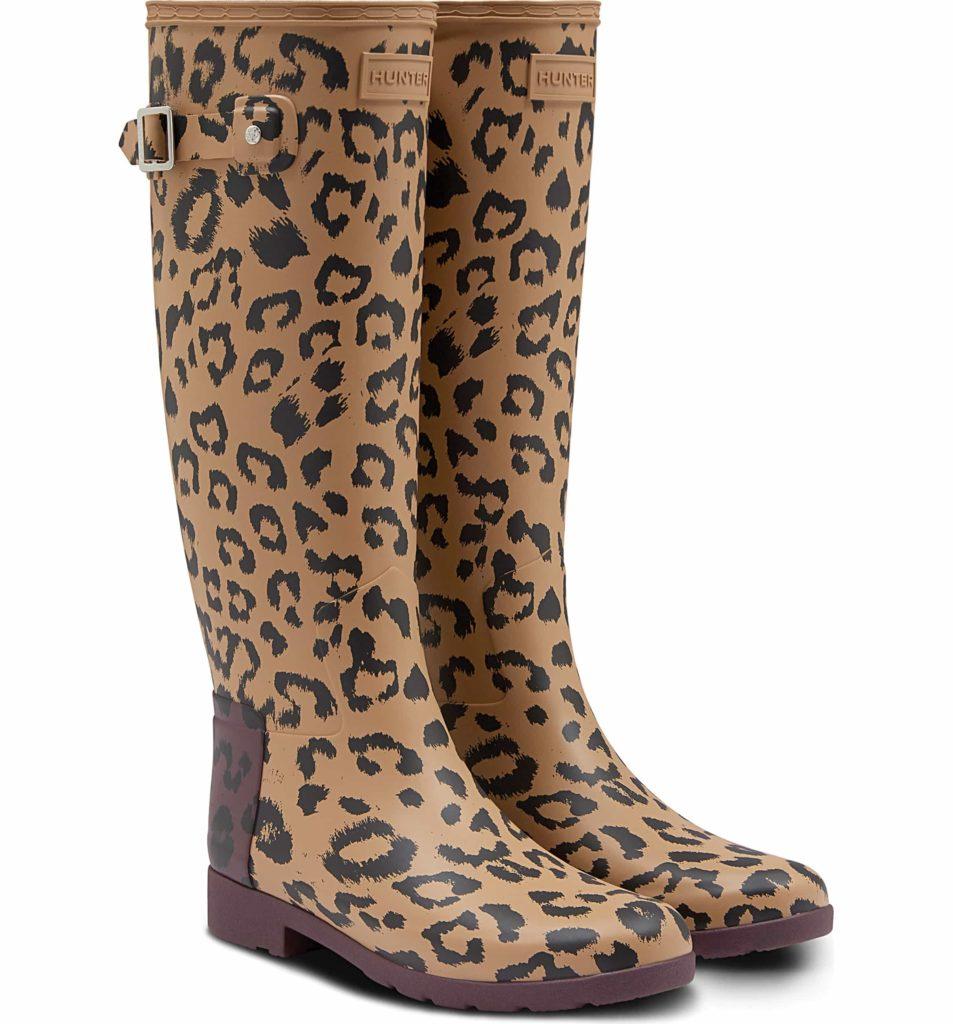 leopard print hunter boots