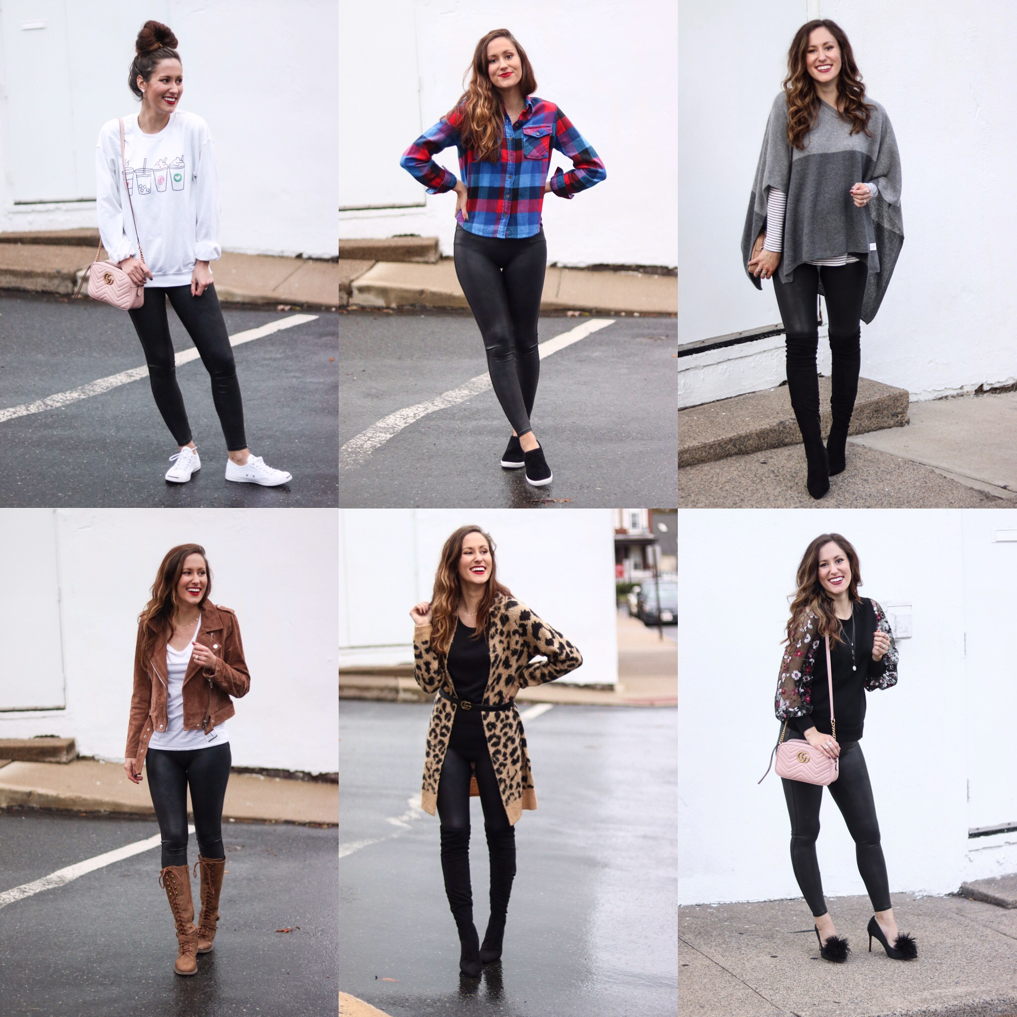 Leather Leggings Lookbook: 6 Ways to Style Leather Leggings