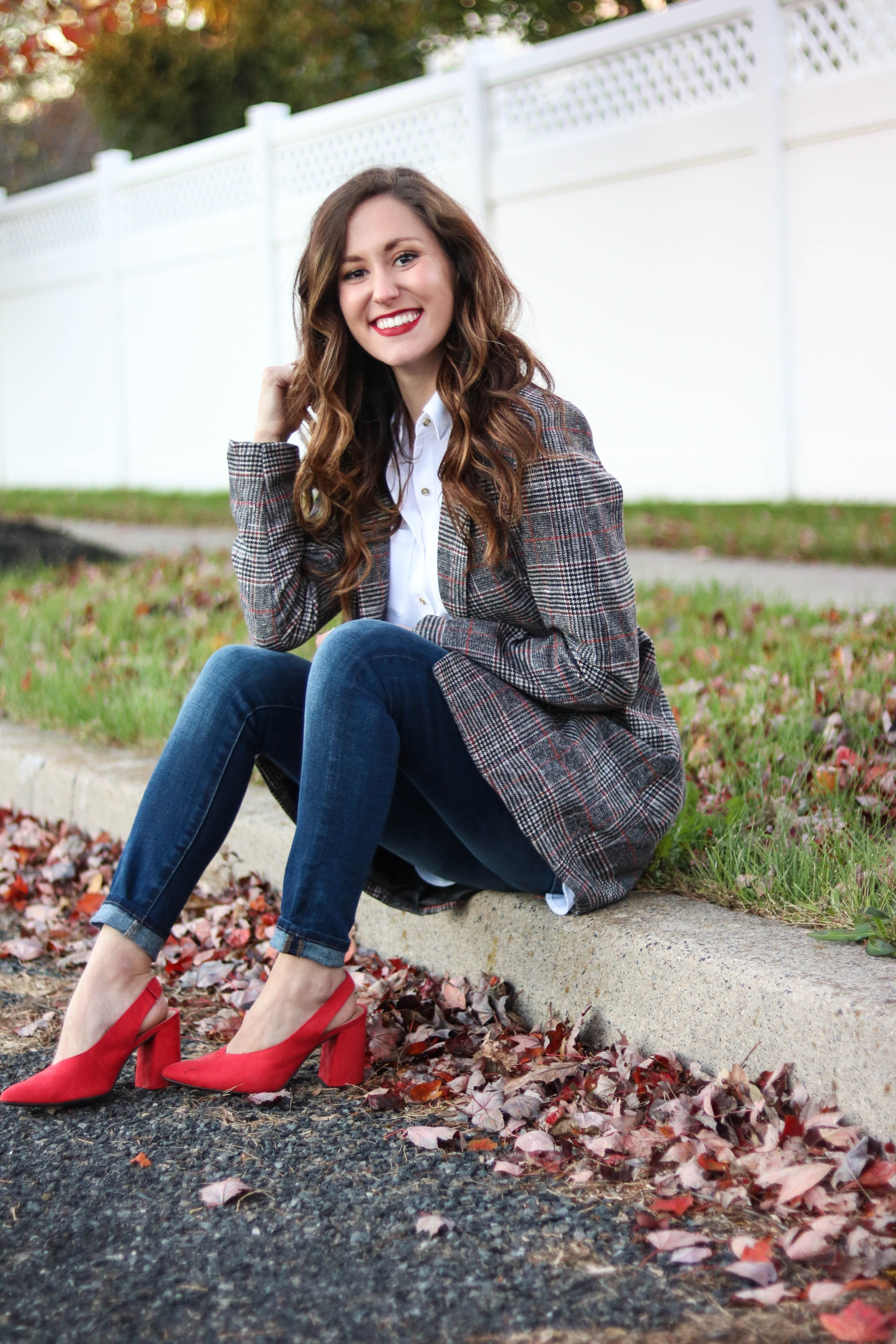 Trend to Try: Longline Plaid Coat, on Coming Up Roses