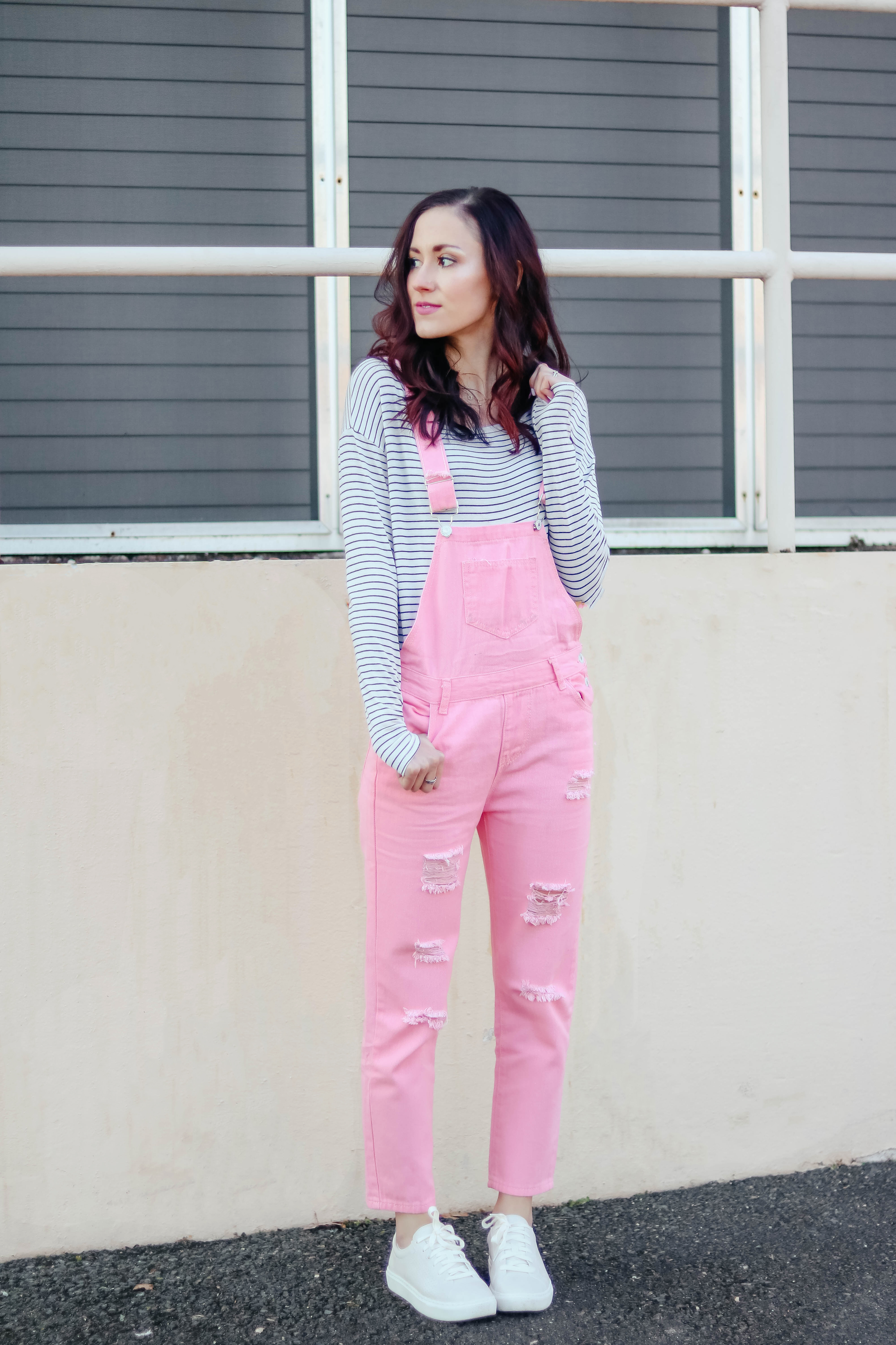 ON MY RADAR - Monthly Happenings on Coming Up Roses, pink overalls