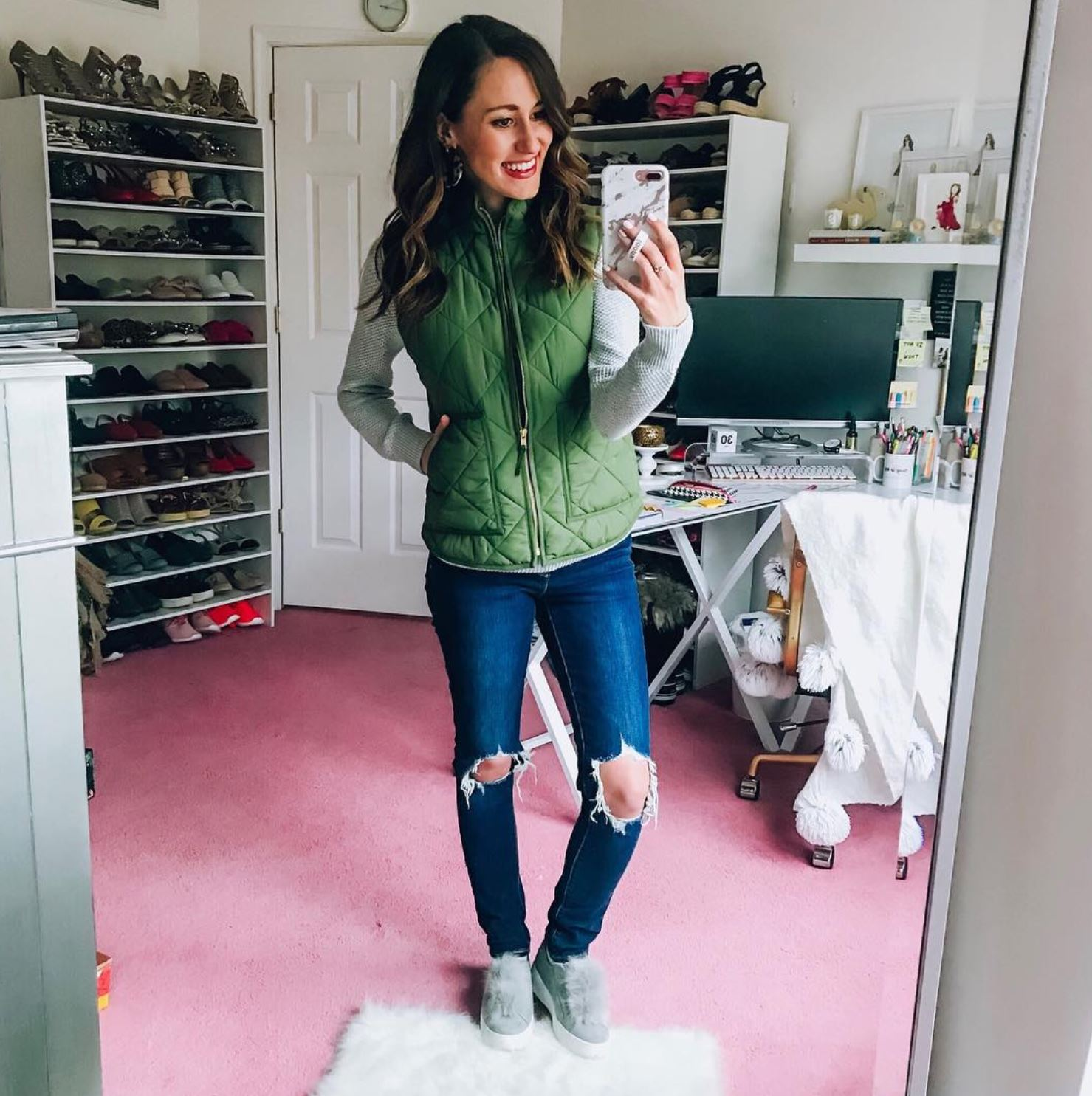 INSTAGRAM LATELY on Coming Up Roses - J. Crew Mercantile vest, levi's jeans