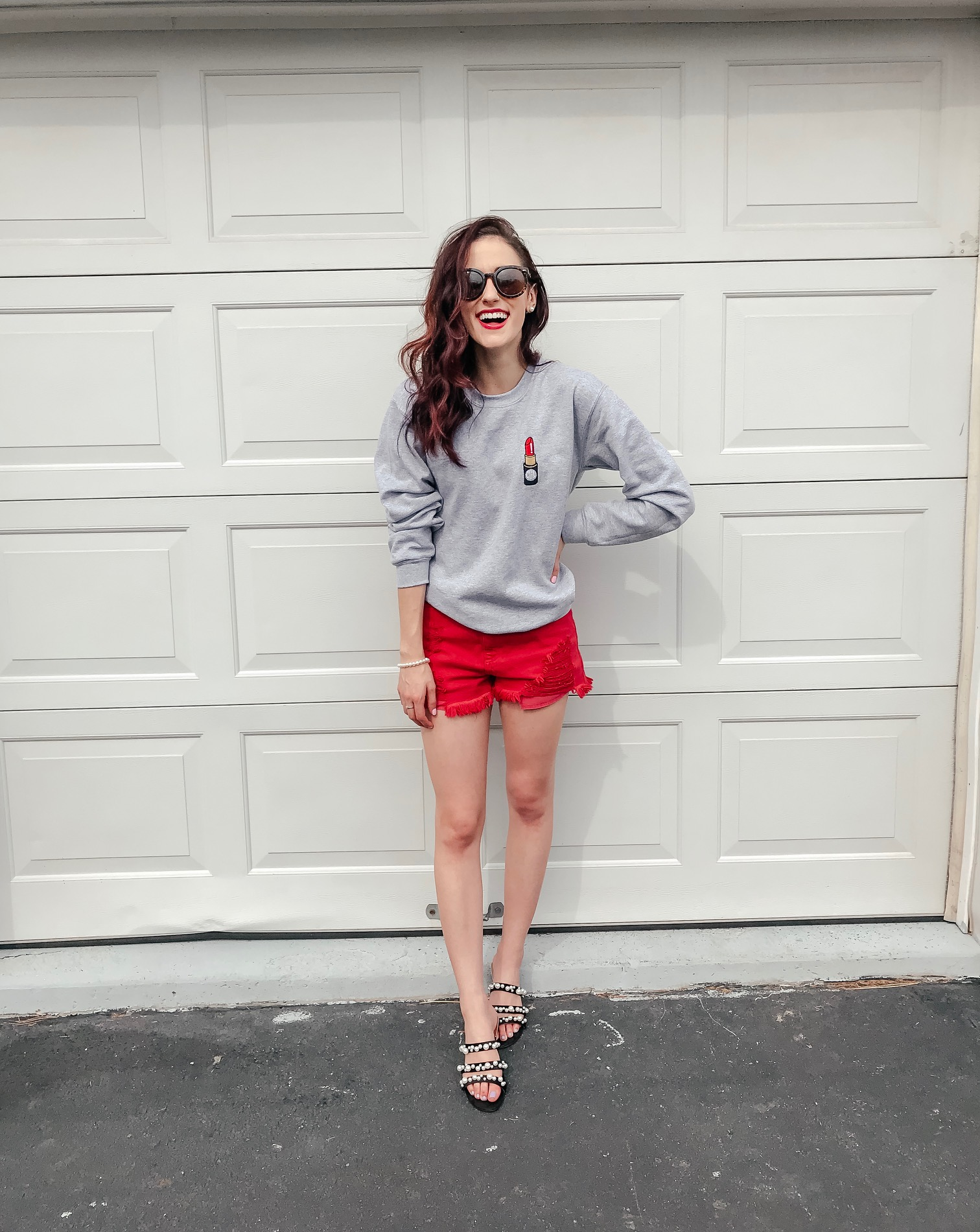 e111bd410215 Tips on Styling Sweatshirts for Spring on Coming Up Roses