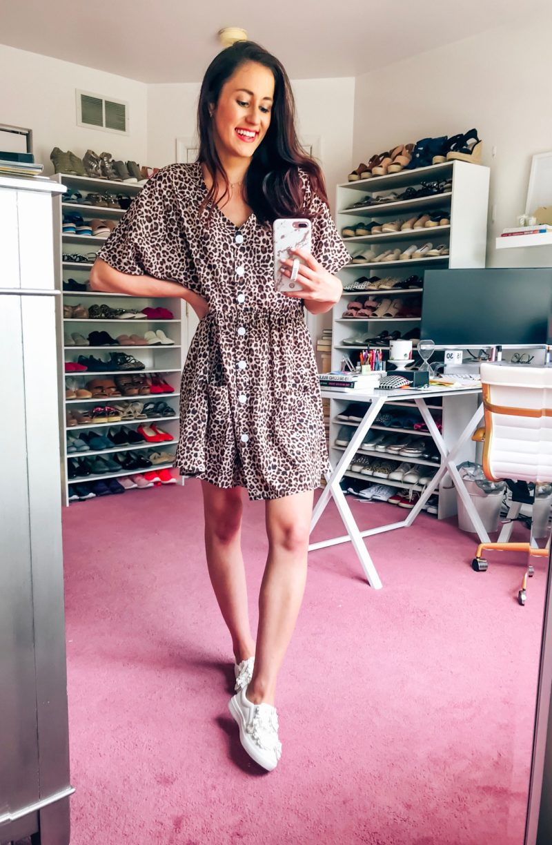 Cool Sh*t I Lovelovelove - Monthly Favorites on Coming Up Roses, featuring a leopard print dress, Tula exfoliating sugar scrub, Supergroop sunscreen, Buxom lipgloss, Broadway show, + MORE