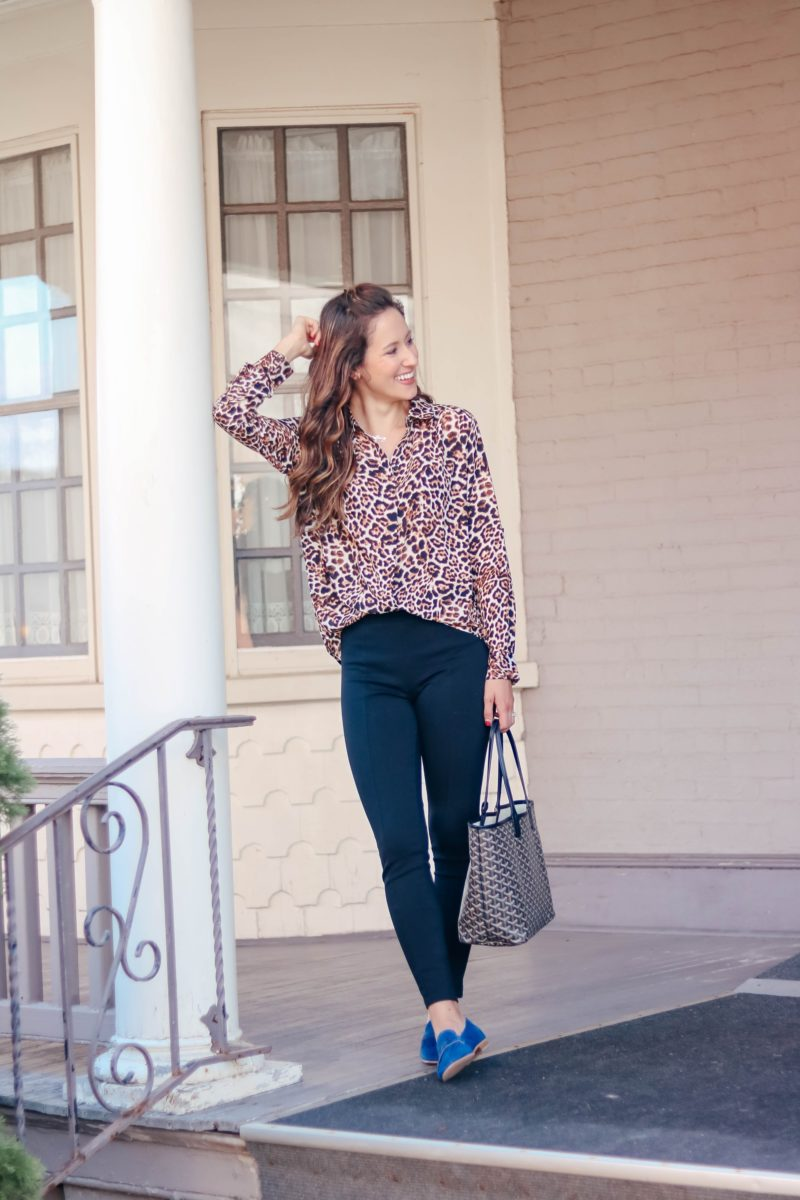 From Desk to Drinks: The Perfect Leopard Blouse