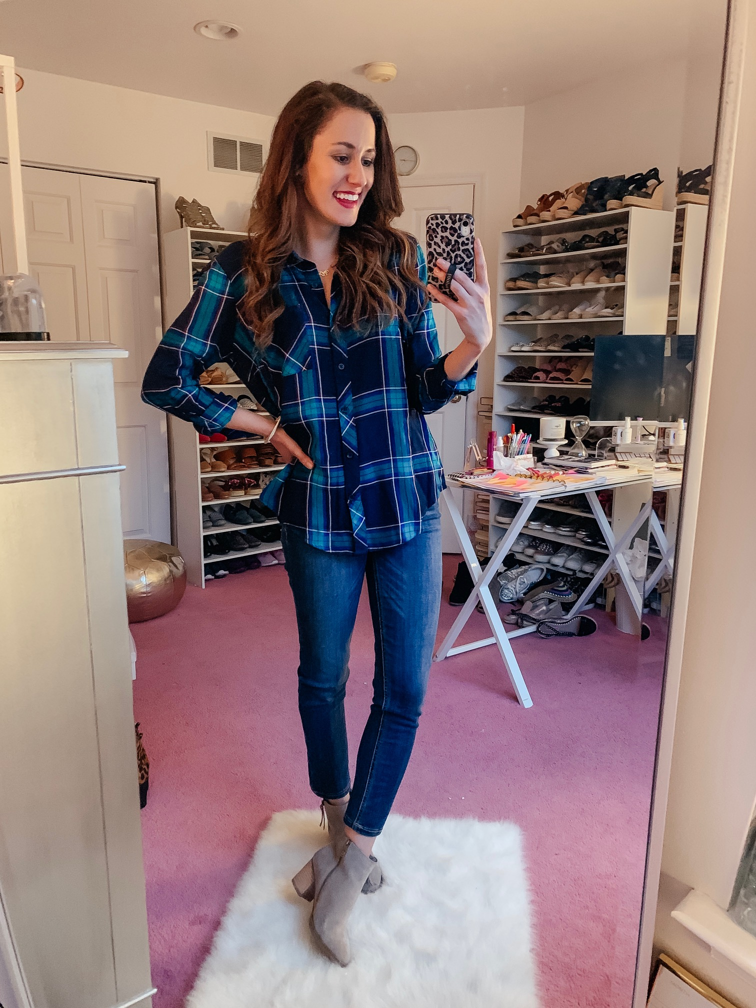 WALMART FALL HAUL - Everything under $35!!! - plaid top fall outfit on Coming Up Roses