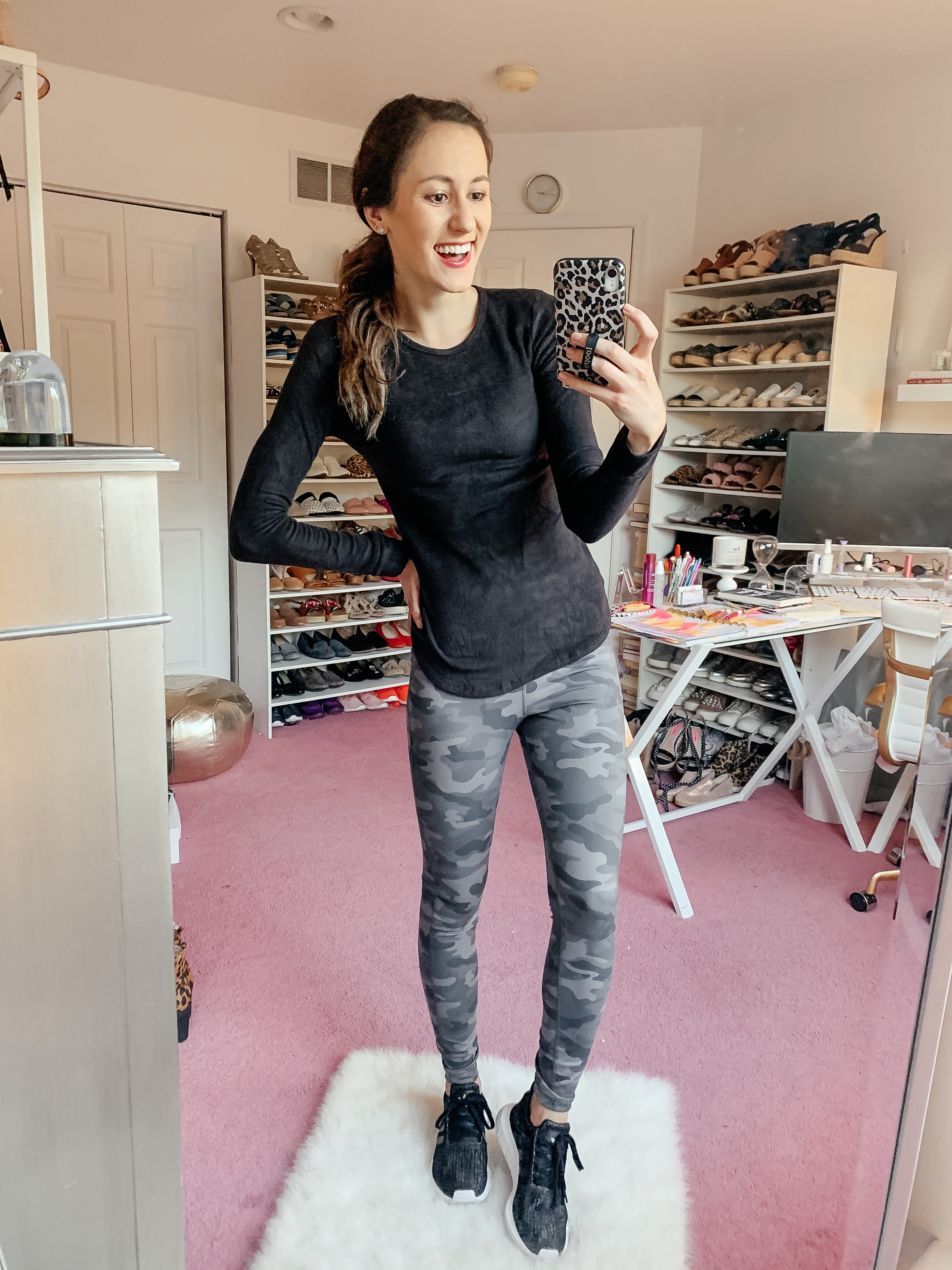 WALMART FALL HAUL - Everything under $35!!! - camo leggings fall outfit on Coming Up Roses