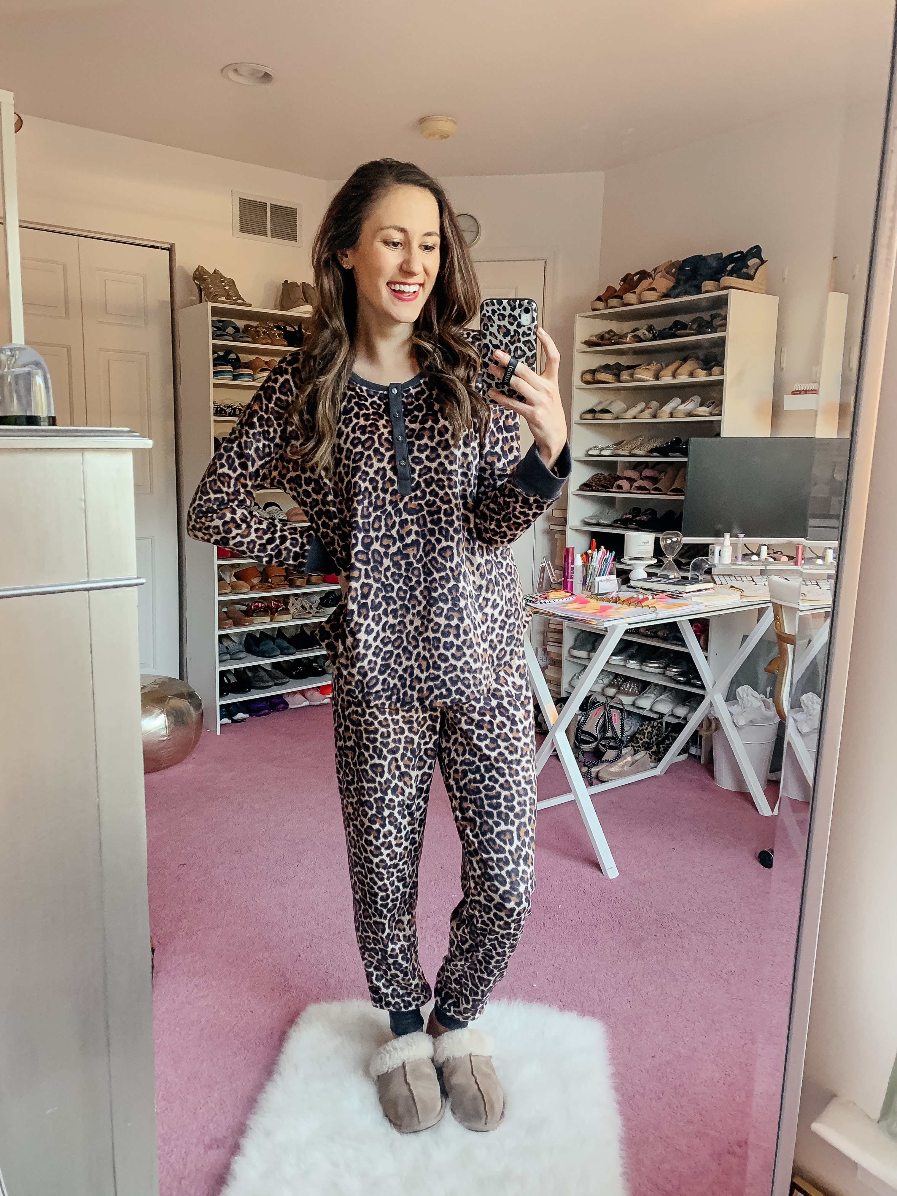 WALMART FALL HAUL - Everything under $35!!! - leopard pajamas on Coming Up Roses
