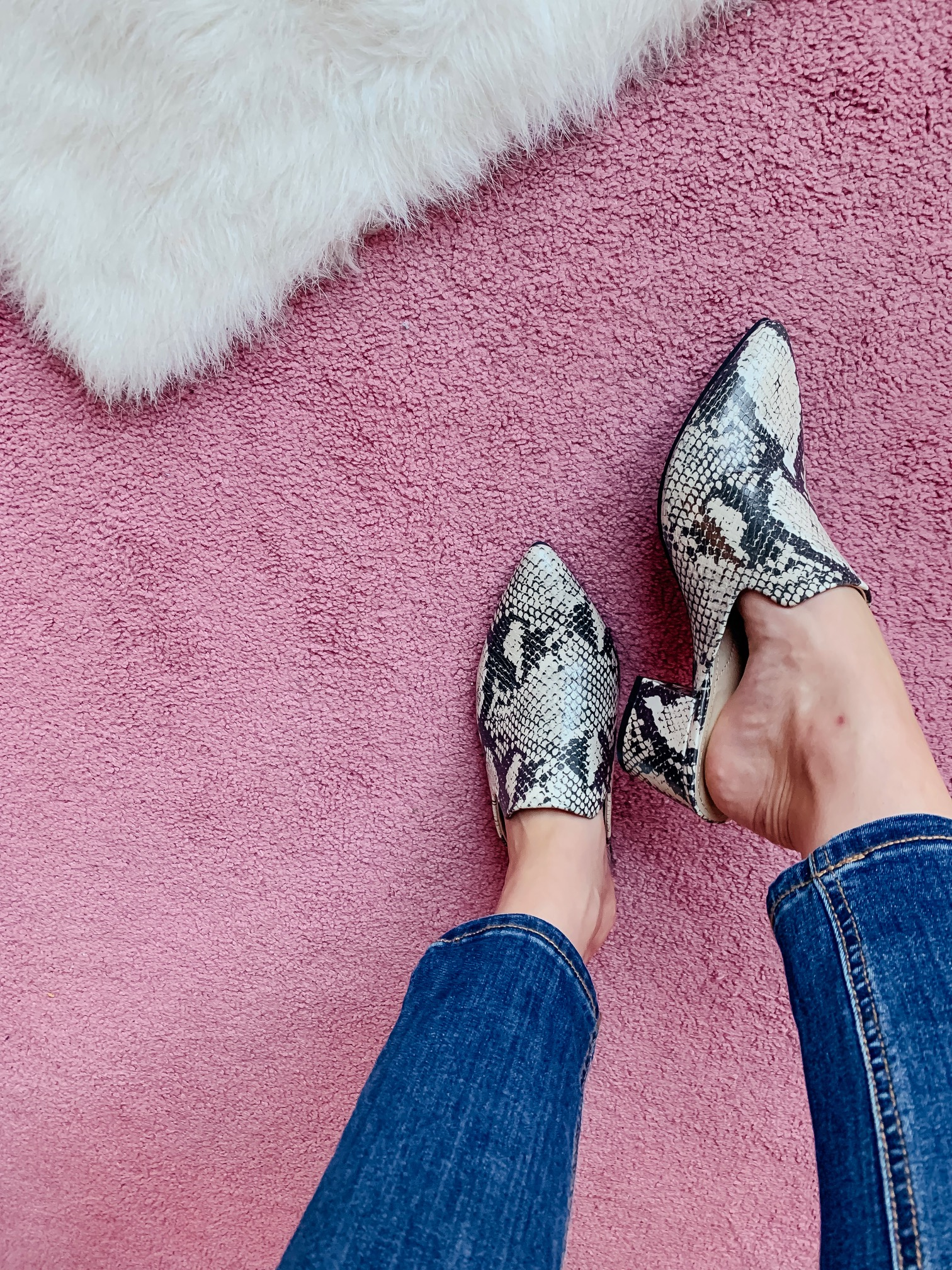 WALMART FALL HAUL - Everything under $35!!! - snakeskin mules on Coming Up Roses