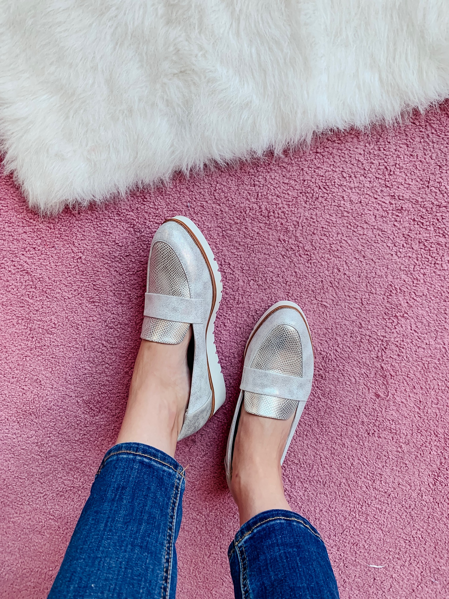 WALMART FALL HAUL - Everything under $35!!! - metallic wedge loafers on Coming Up Roses