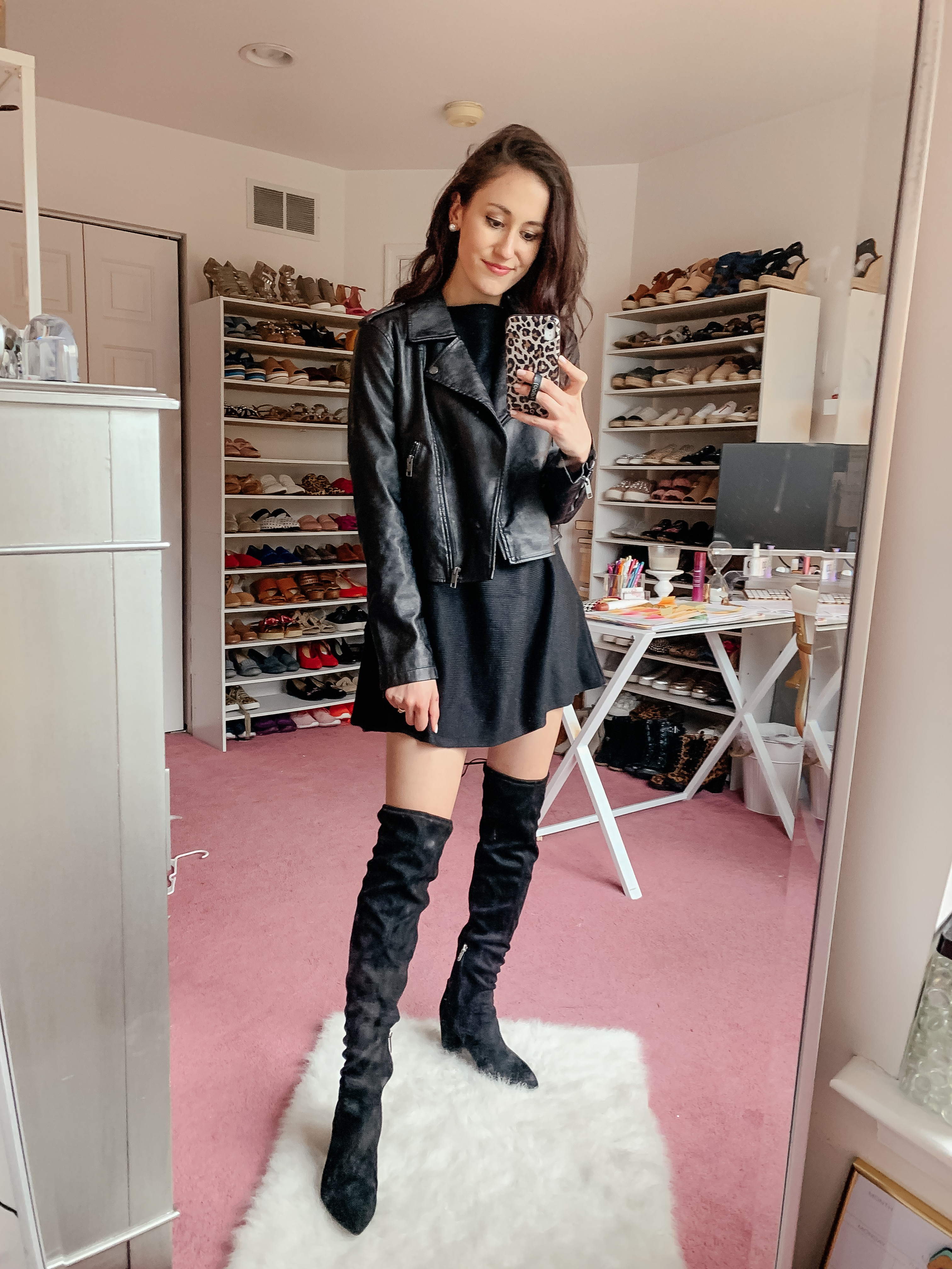 Faux leather jacket - AMAZON FALL HAUL try-on on Coming Up Roses