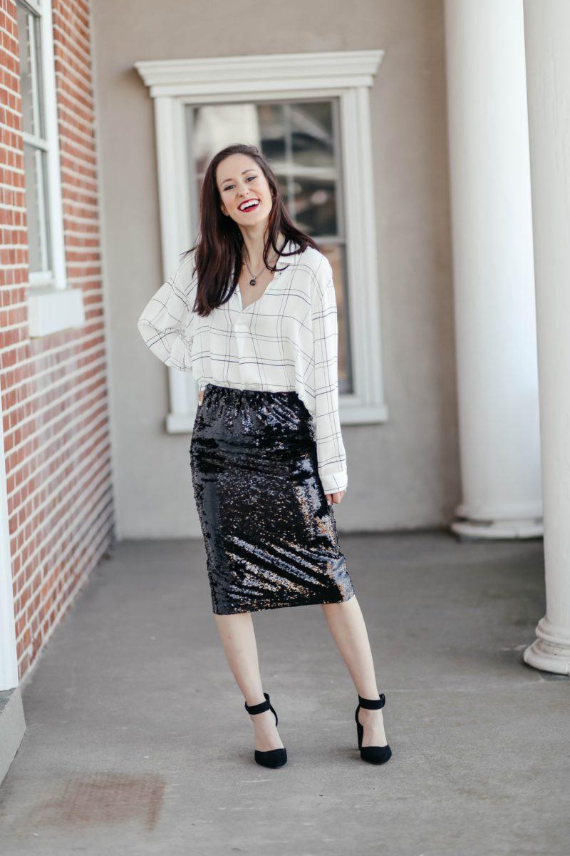 1 Thing, 3 Ways: Sequin Midi Skirt