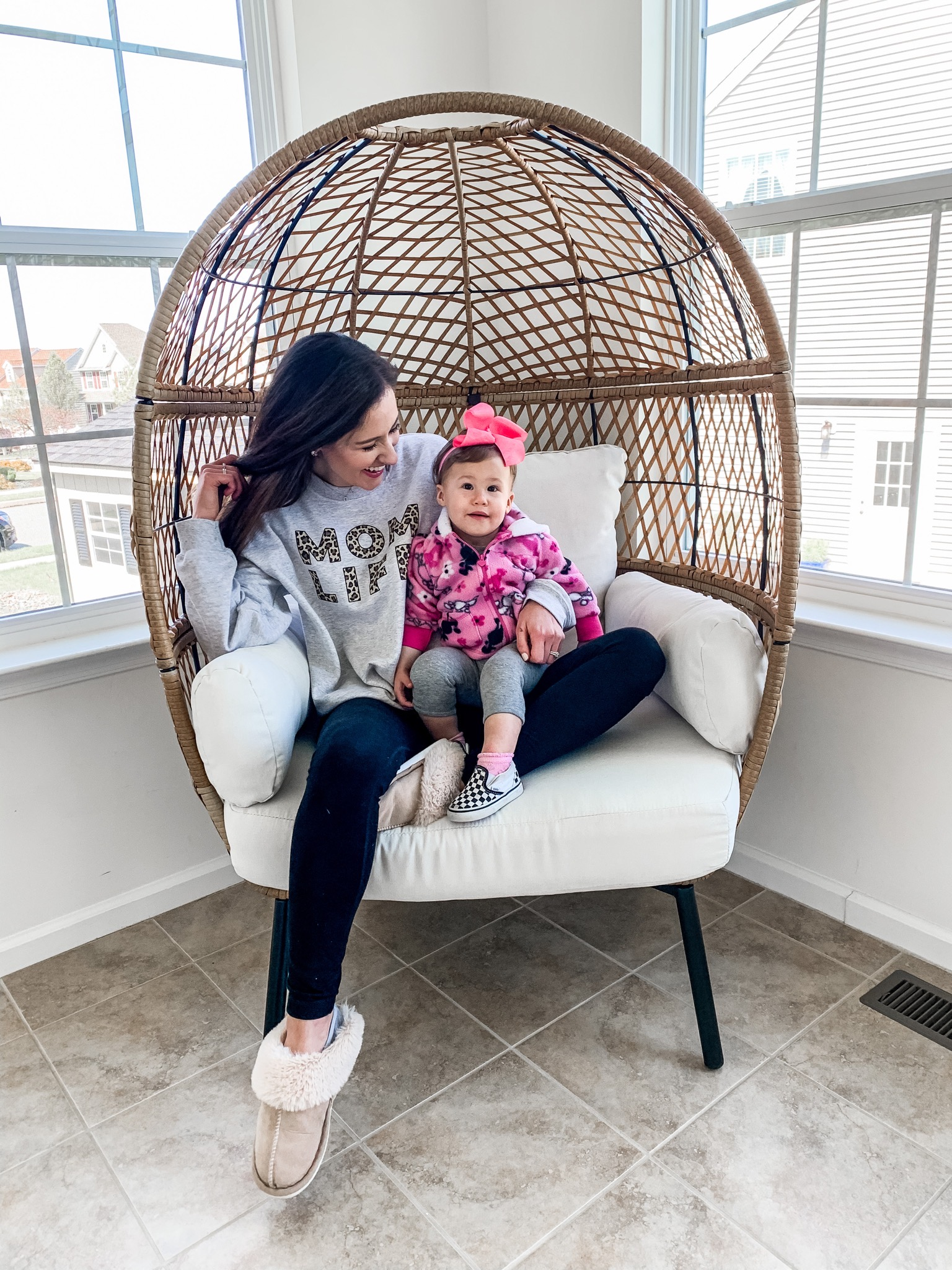MOM LIFE SWEATSHIRT - on Coming Up Roses