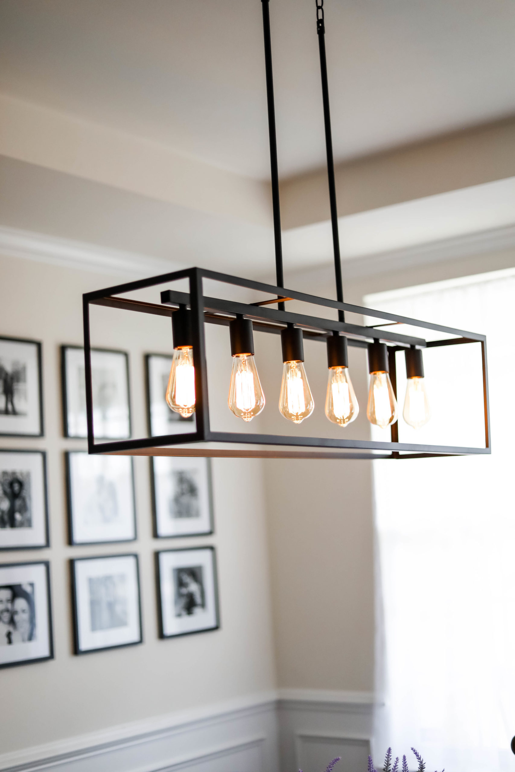 New House Tour: Modern Farmhouse Dining Room Reveal - on Coming Up Roses