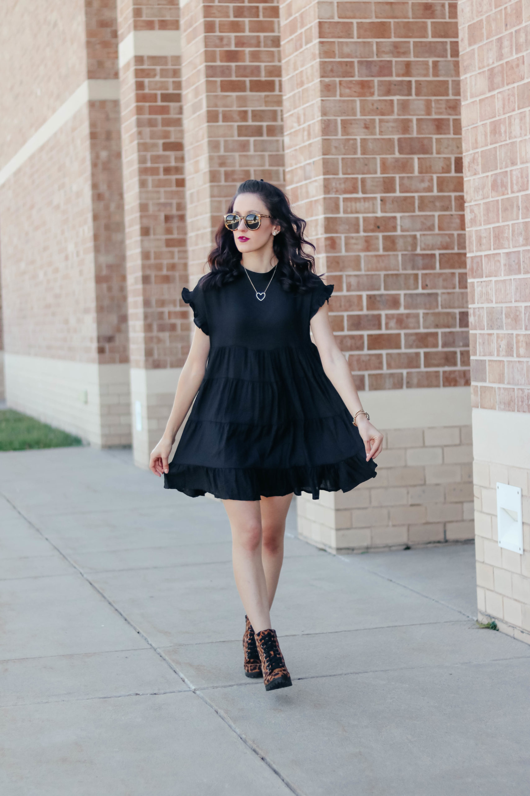 BLACK RUFFLE DRESS - #AskE featuring Comfy + Cute Walking Shoes? Gallery wall hanging hacks? Egg chair? + MORE - on Coming Up Roses
