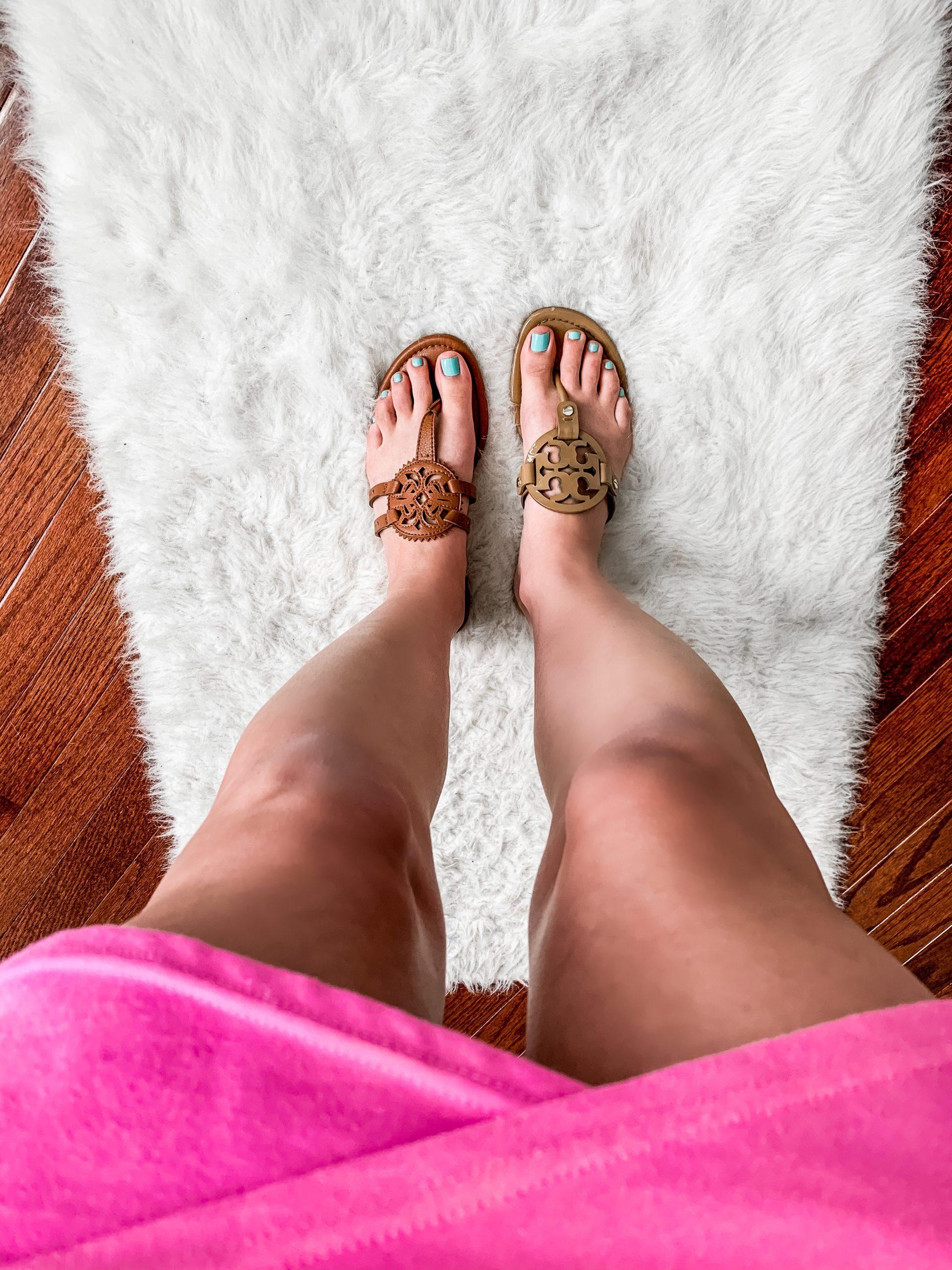 LOOK FOR LESS: Tory Burch Miller Sandals ($198 original versus $30 look for less!)
