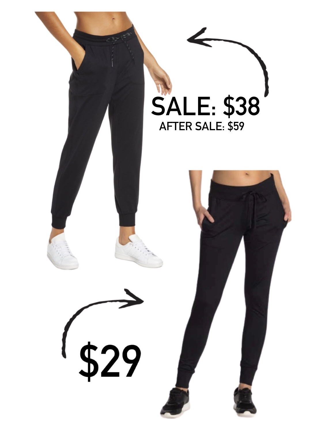 Joggers for less