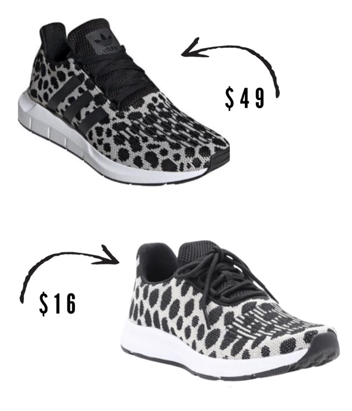 Adidas Sneakers Look for Less