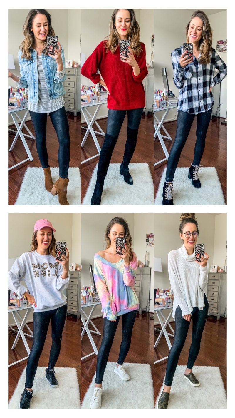 1 Thing, 6 Ways: Spanx Faux Leather Leggings