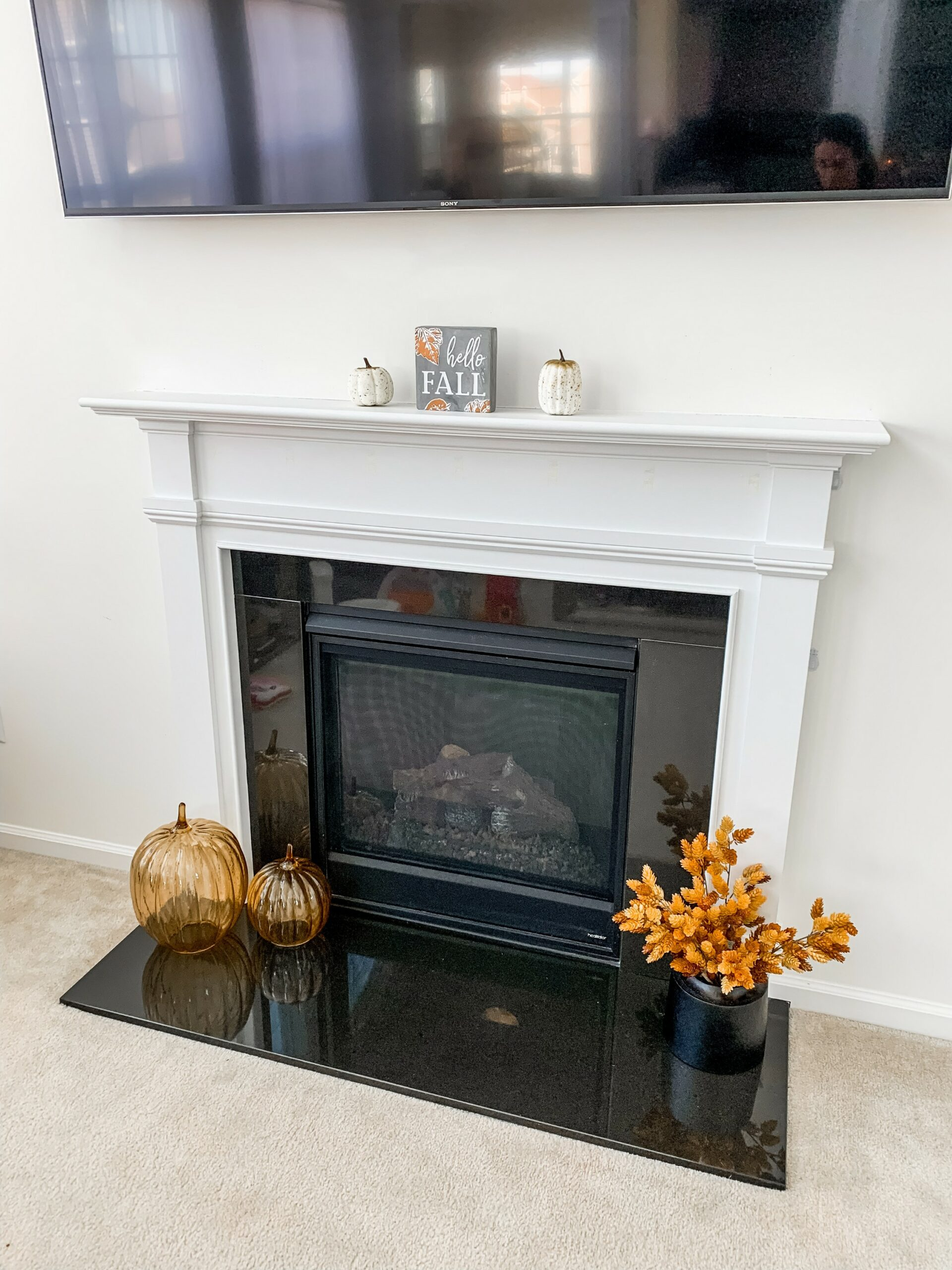 Fall decor ideas - fall mantle decor on Coming Up Roses