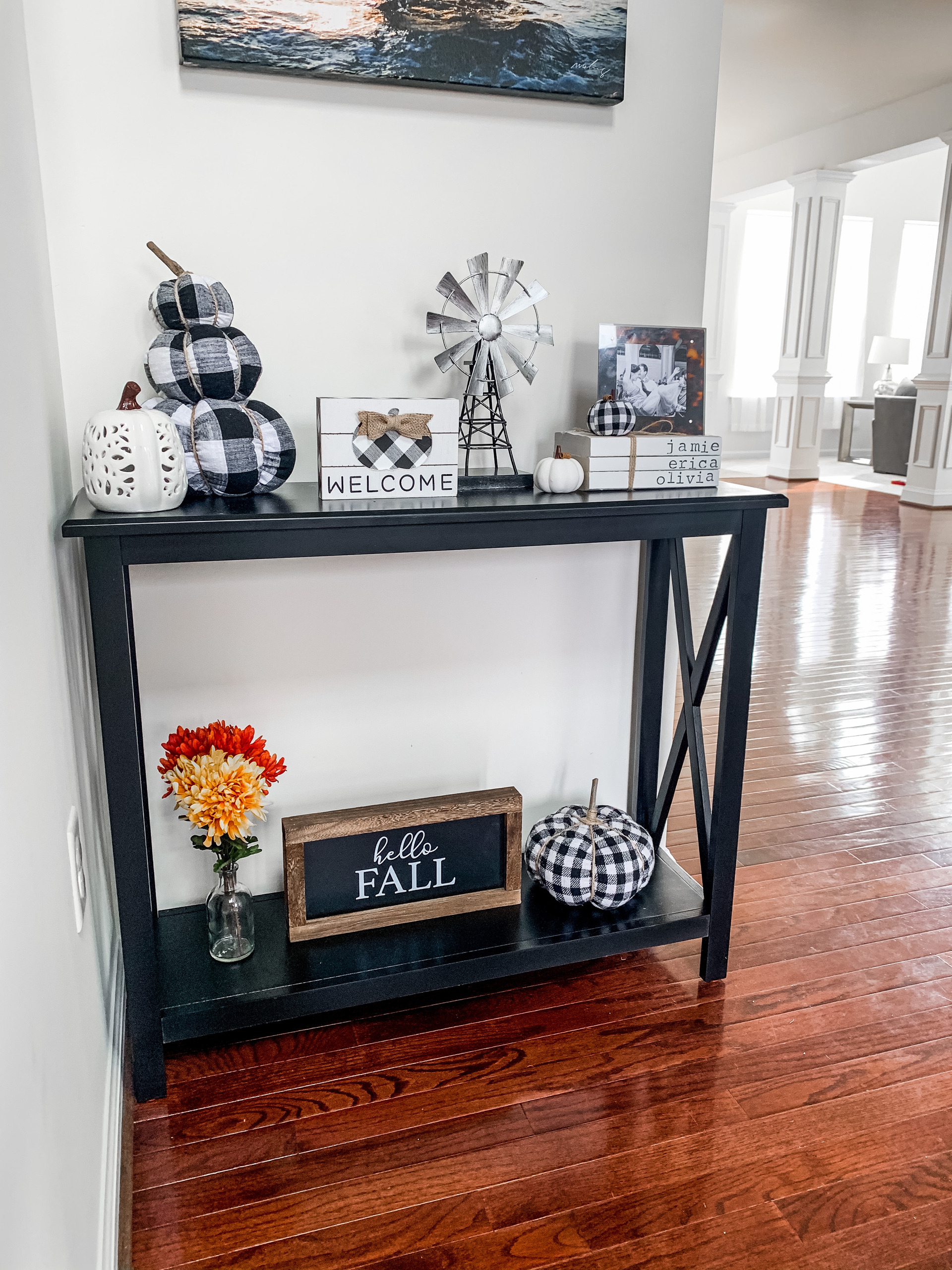 Entryway fall decor ideas - on Coming Up Roses