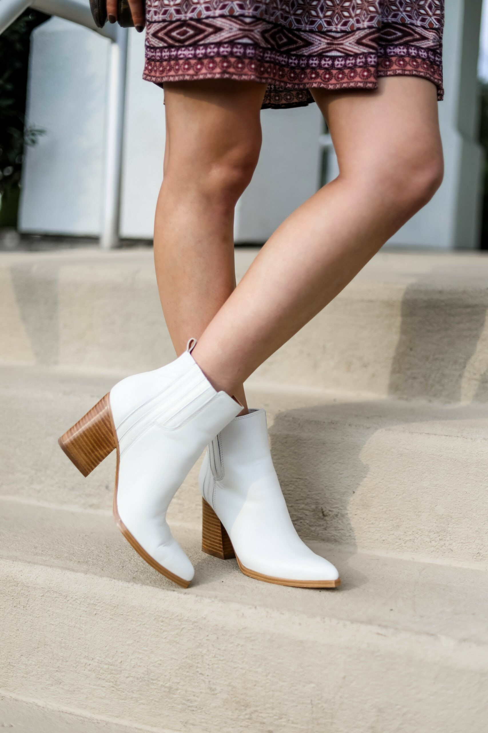 White Marc Fisher Booties - on Coming Up Roses