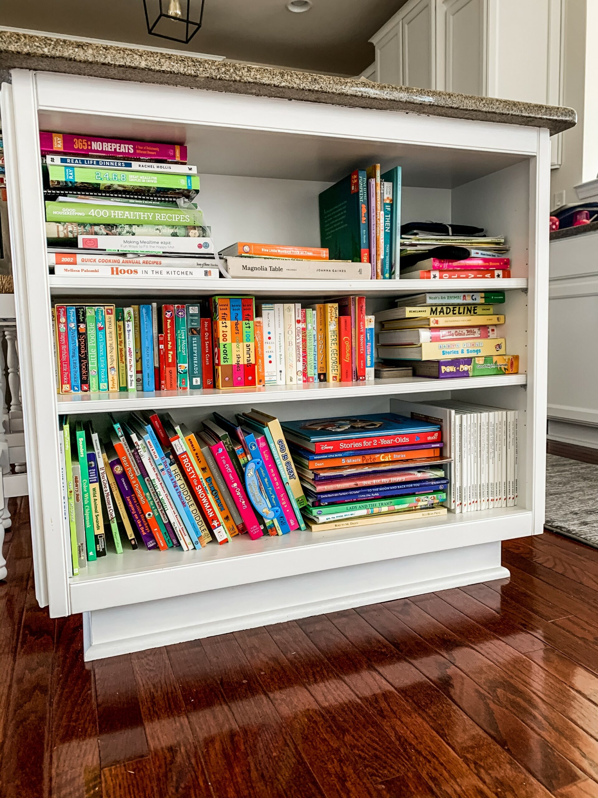 Kitchen kids' book storage
