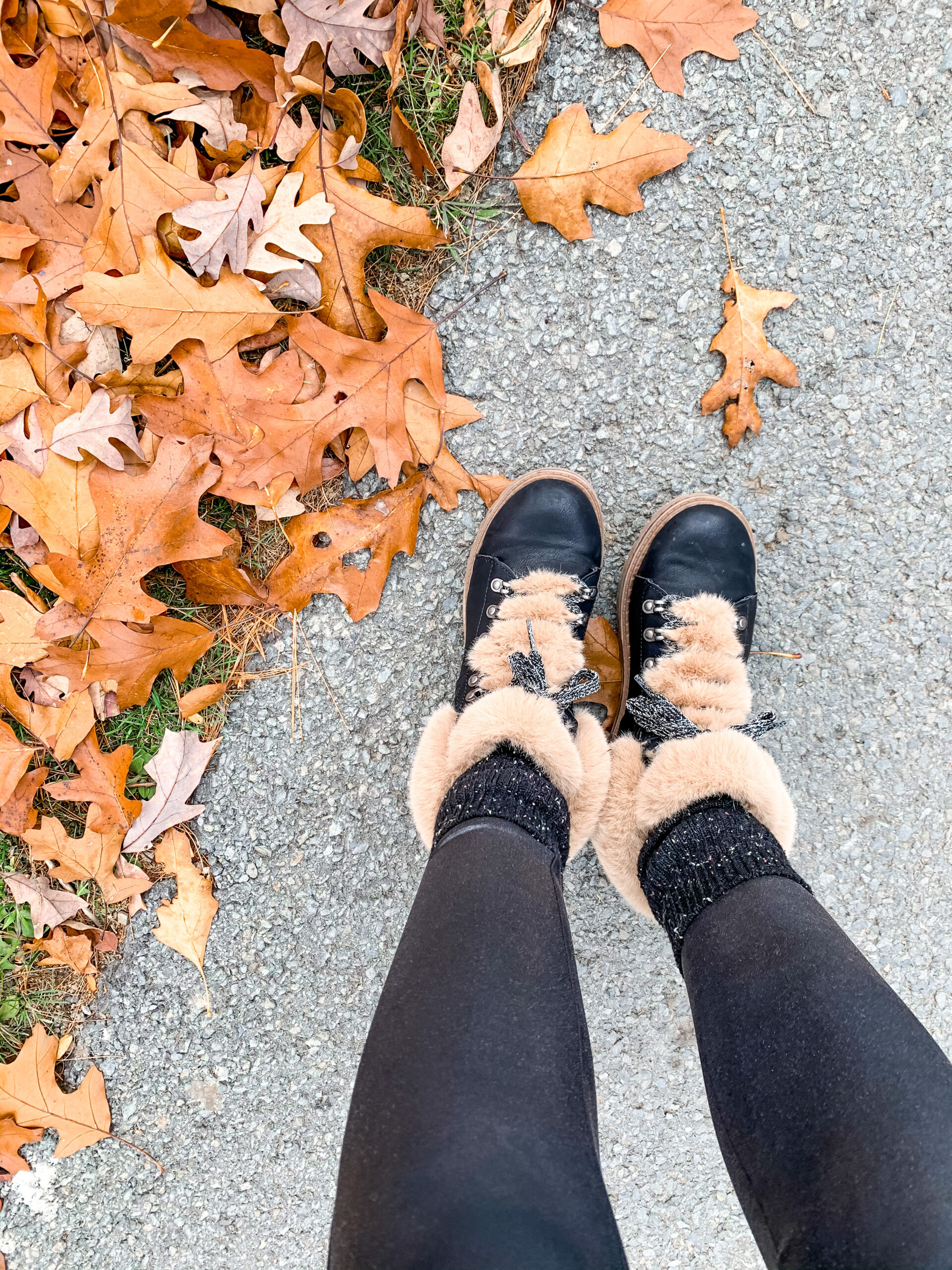 FUR HIKING BOOTS - on Coming Up Roses