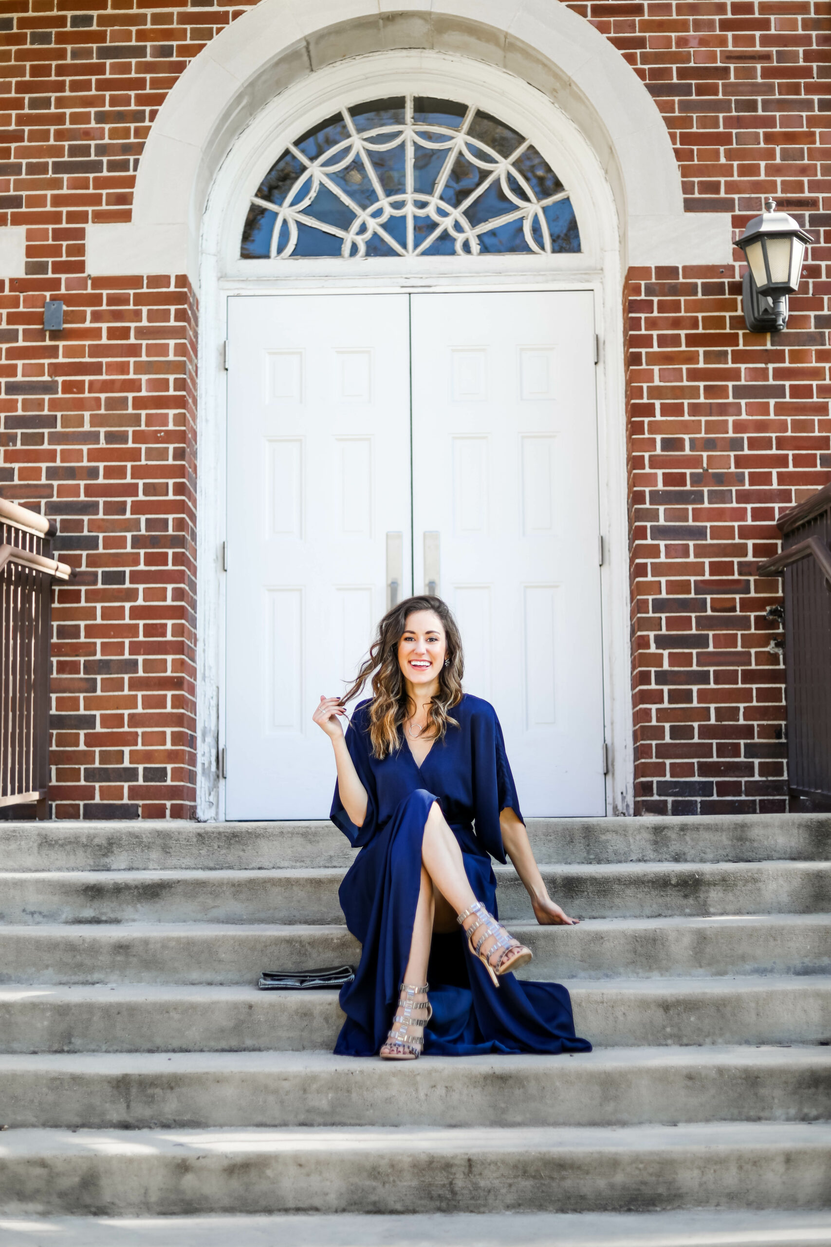 Navy wedding guest dress - on Coming Up Roses