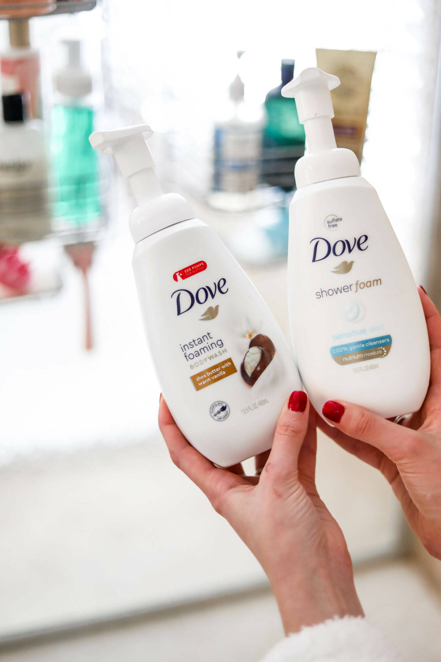 WHAT'S IN MY SHOWER (dove foaming body wash) - on Coming Up Roses