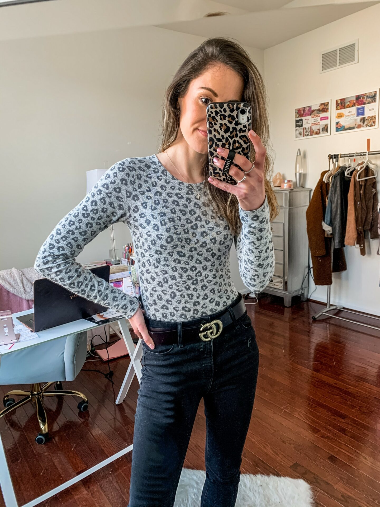 Abercrombie leopard print bodysuit (ON SALE!) - on Coming Up Roses