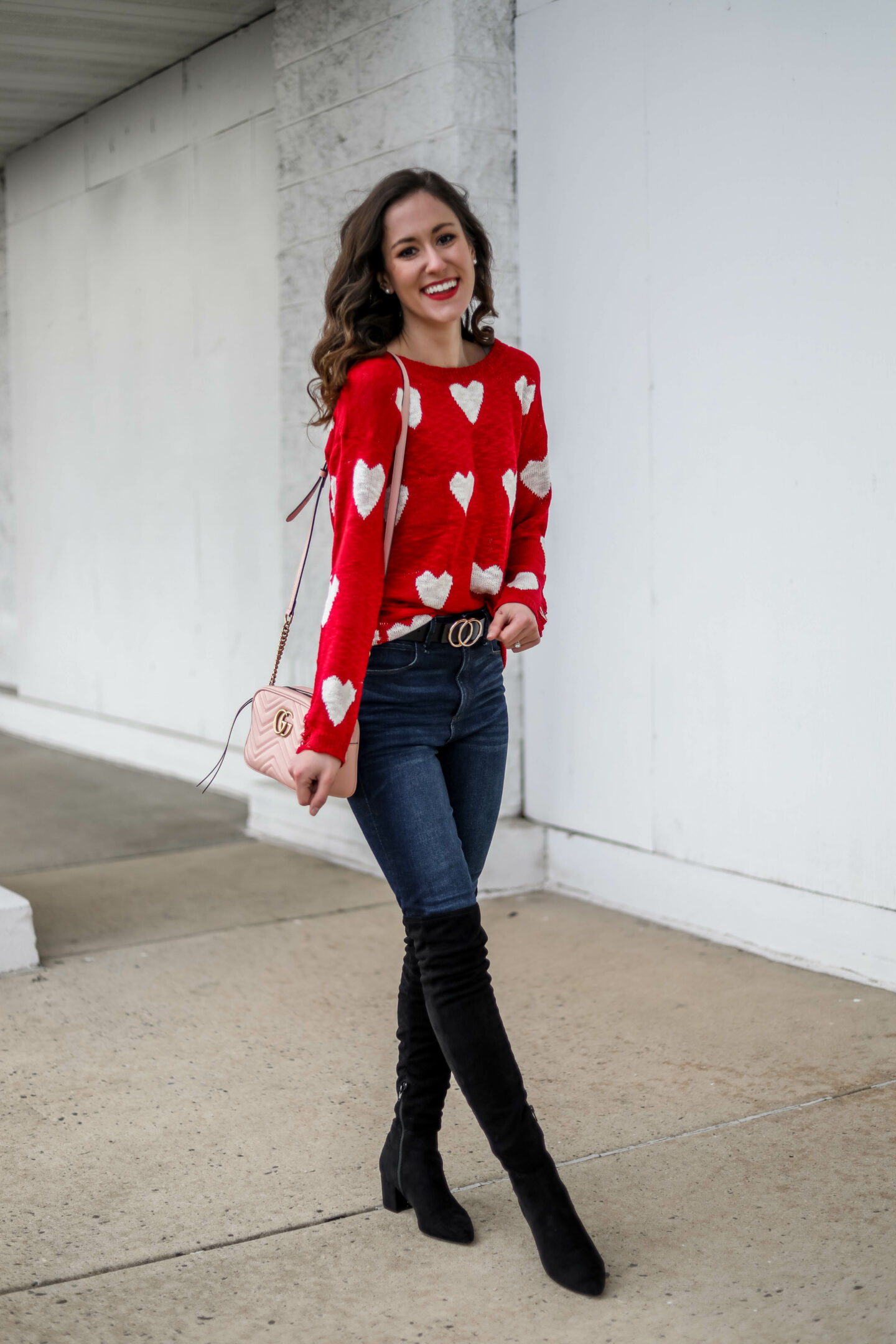 AFFORDABLE VALENTINE'S DAY OUTFIT - Amazon heart sweater on Coming Up Roses