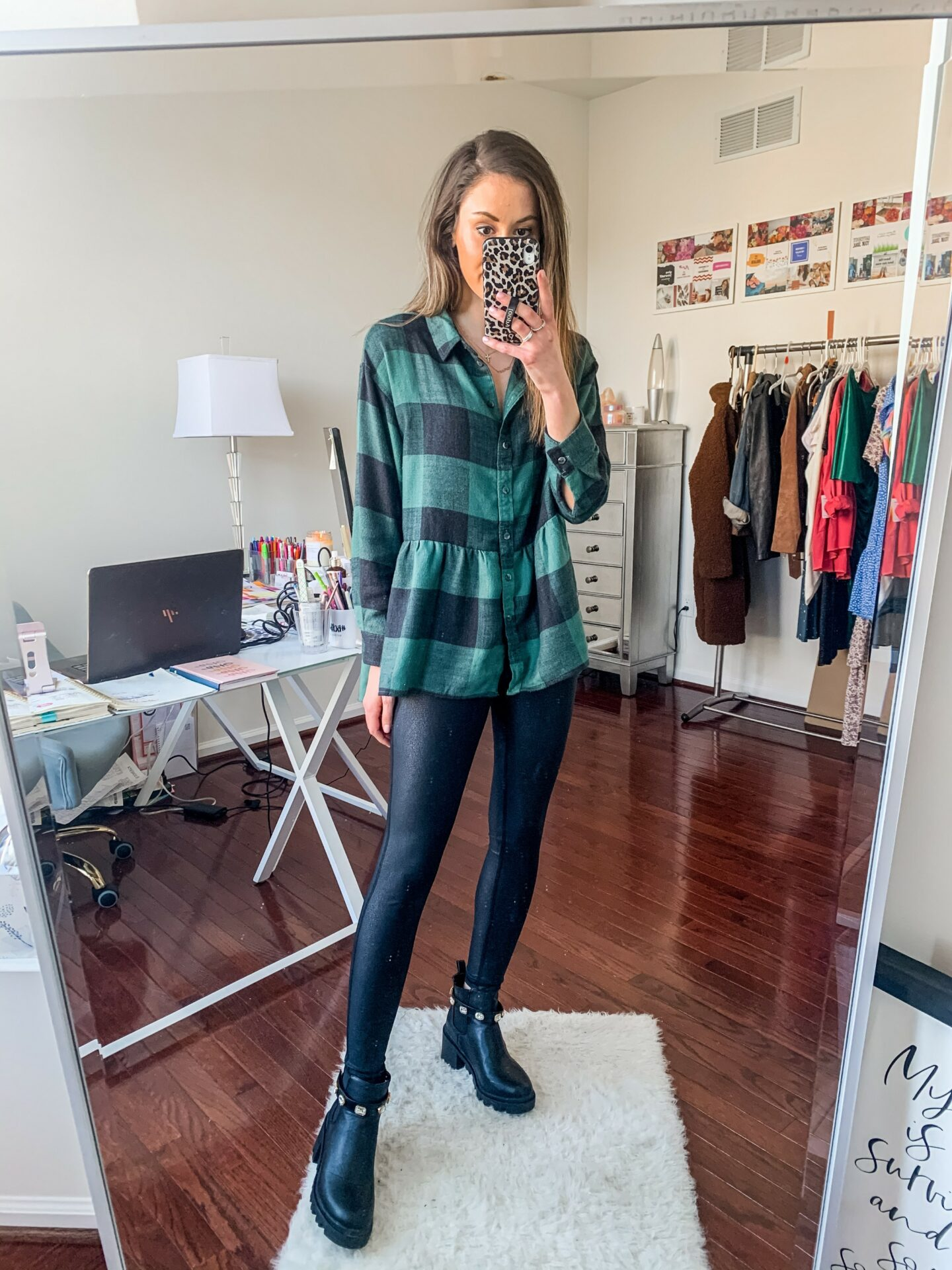 AMERICAN EAGLE FLANNEL SHIRT outfit - on Coming Up Roses
