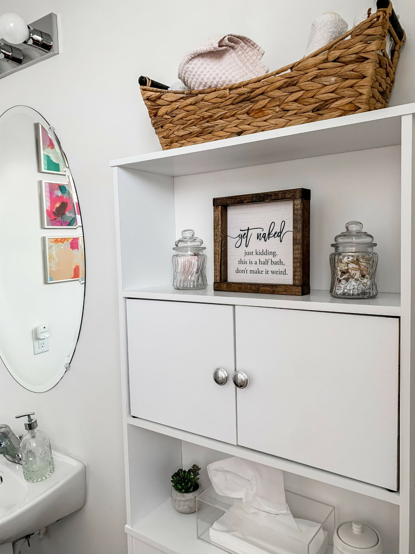 GET NAKED half bath sign - on Coming Up Roses