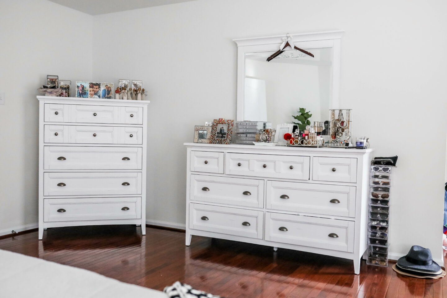 WHITE MASTER BEDROOM DECOR -with Raymour & Flanigan on Coming Up Roses