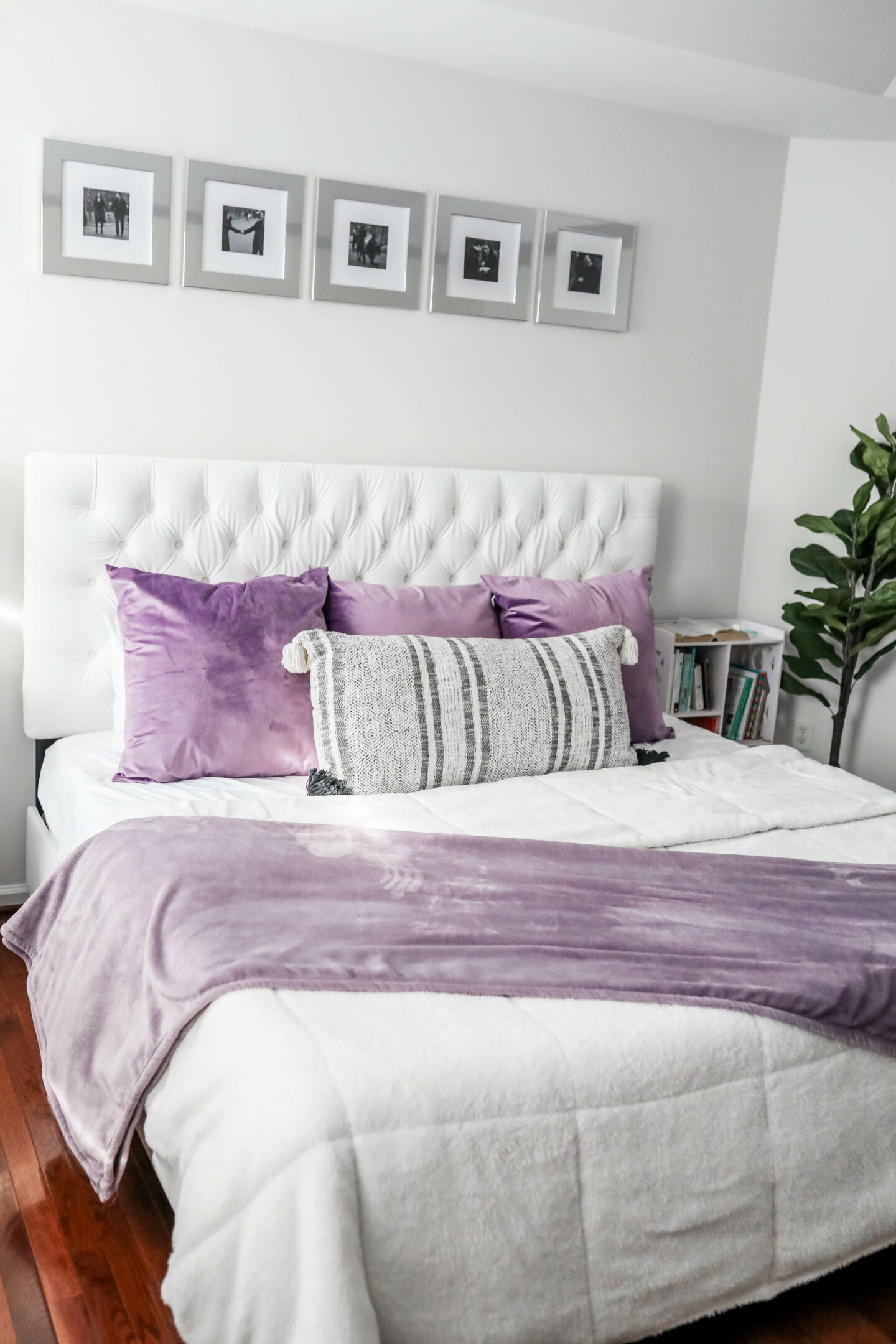 WHITE MASTER BEDROOM TUFTED KING BED - with Raymour & Flanigan on Coming Up Roses