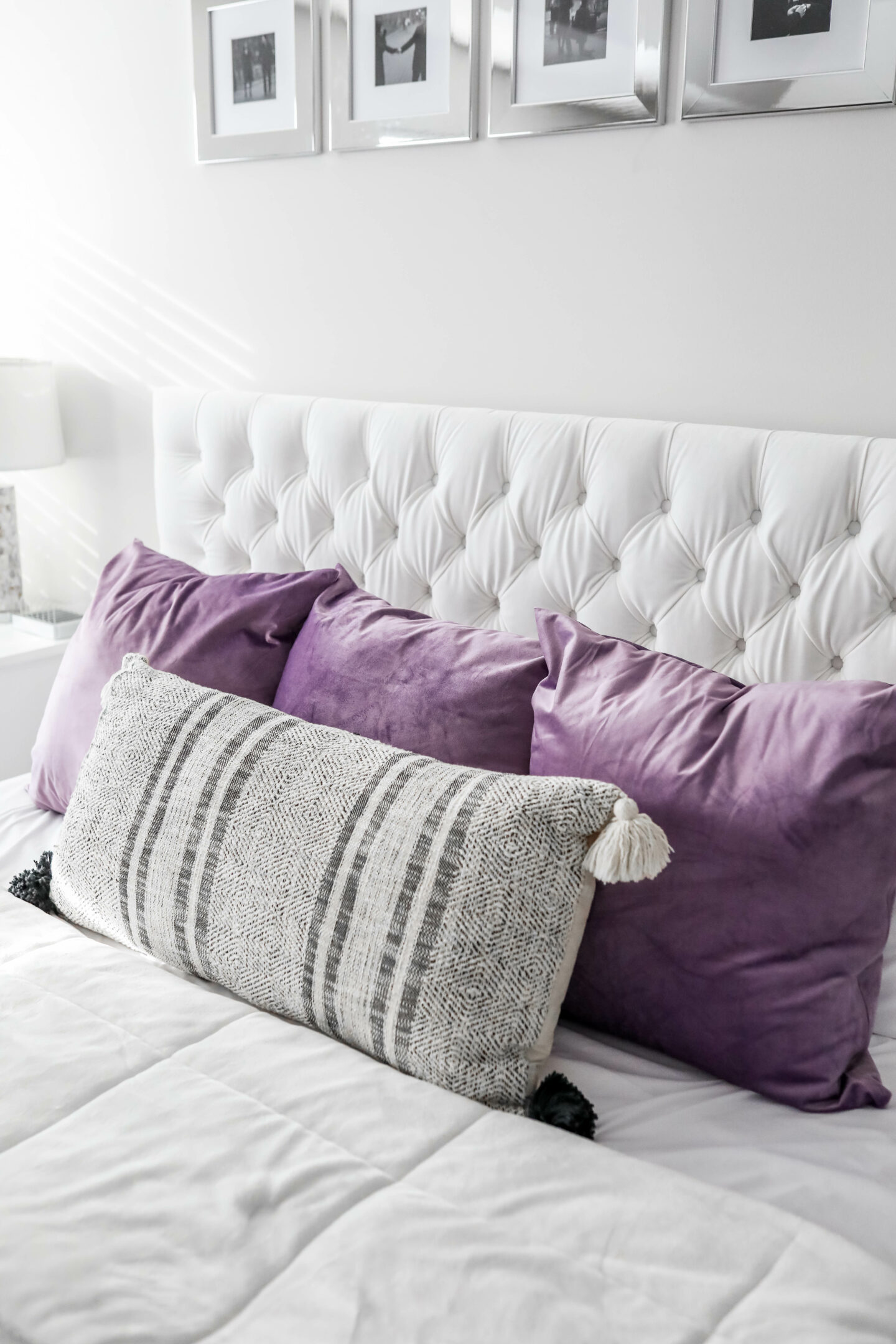 King bed pillows on Coming Up Roses