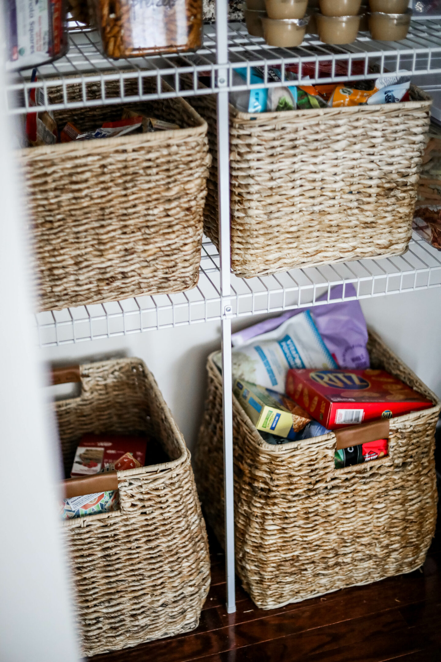 Pantry organization Studio McGee baskets
