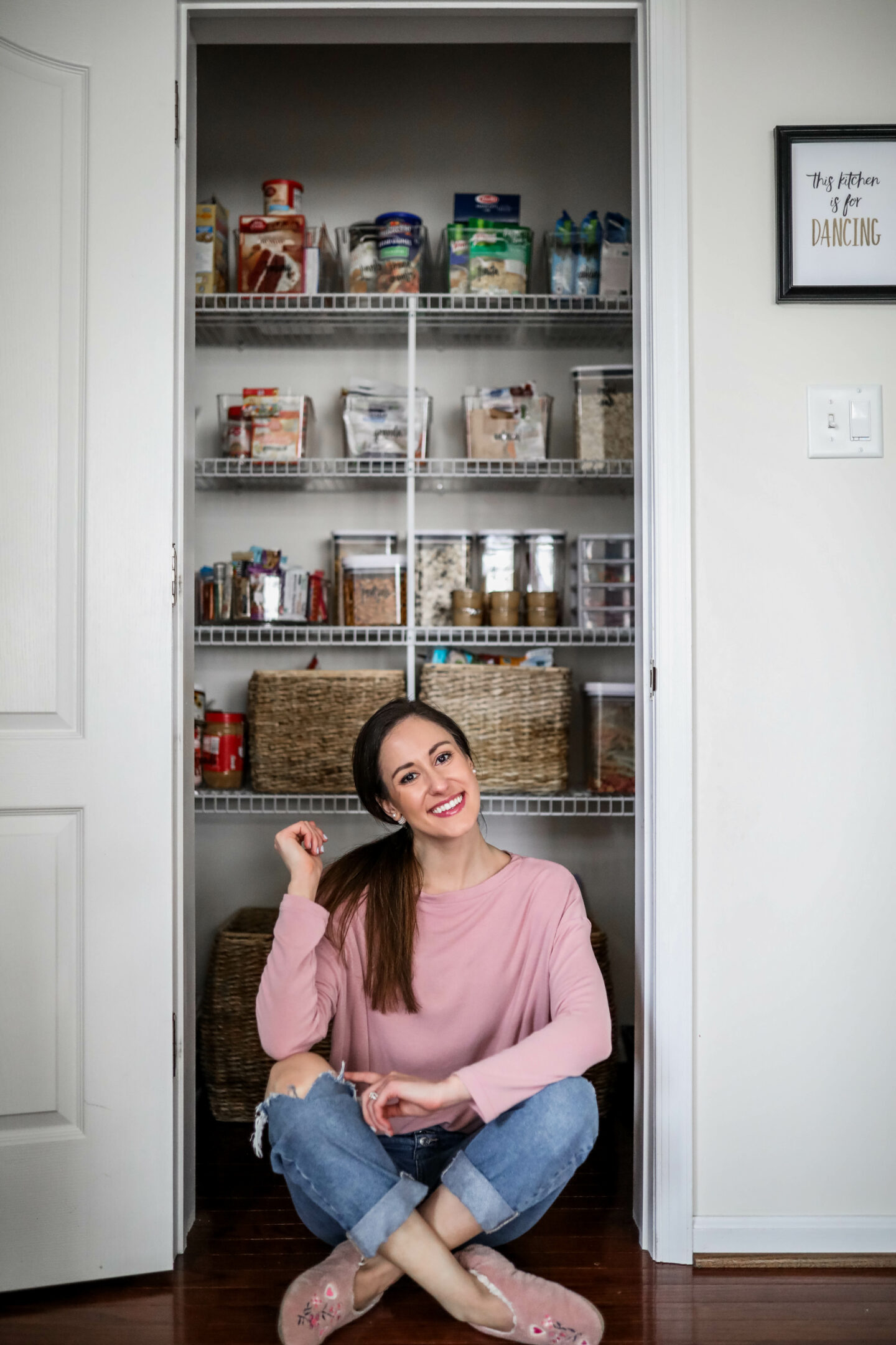 EASY PANTRY ORGANIZATION SYSTEM - our small pantry organization system with before/afters!