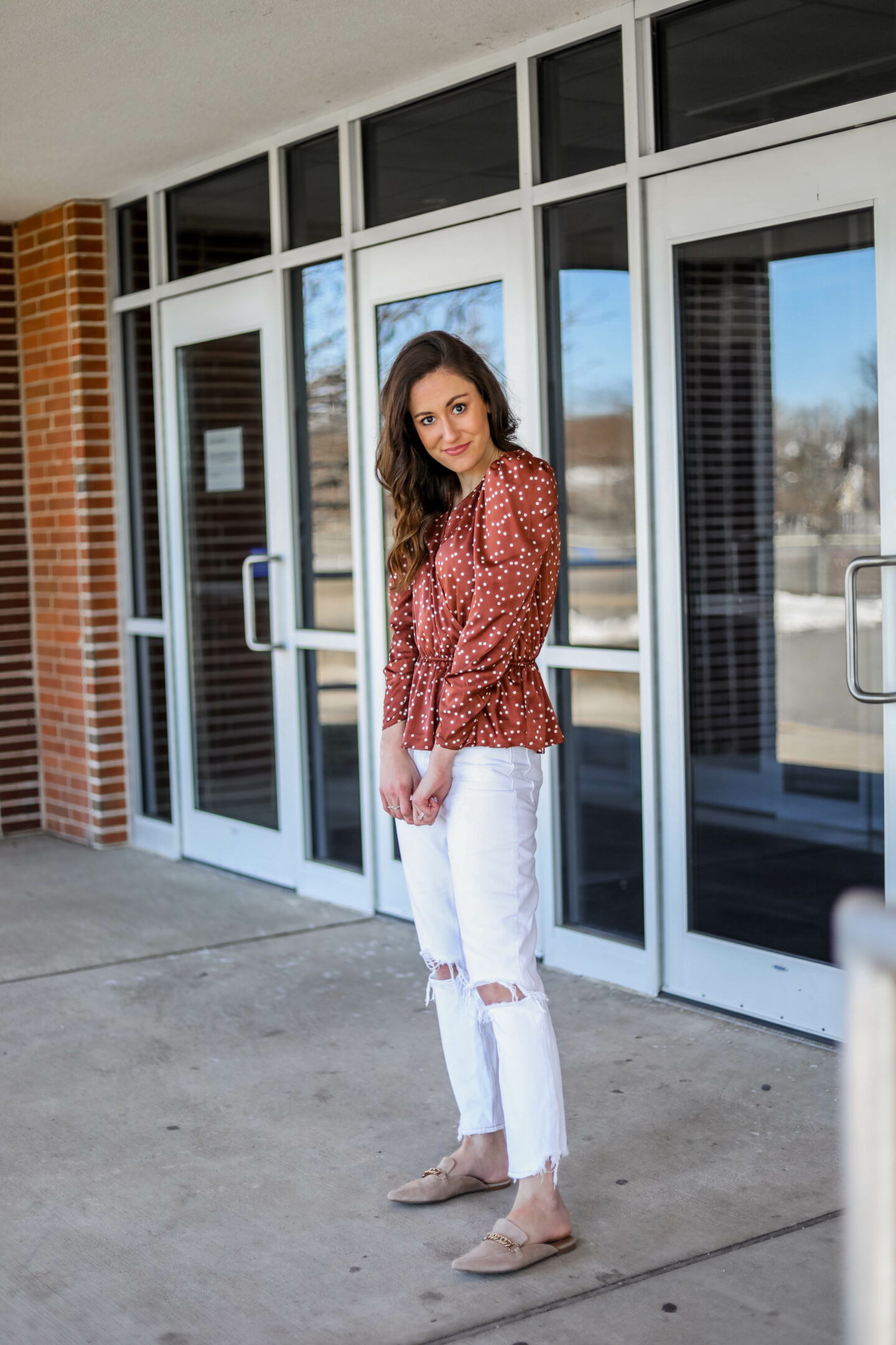 MY FAVORITE $26 TOP - Polka dot top from Walmart fashion on Coming Up Roses