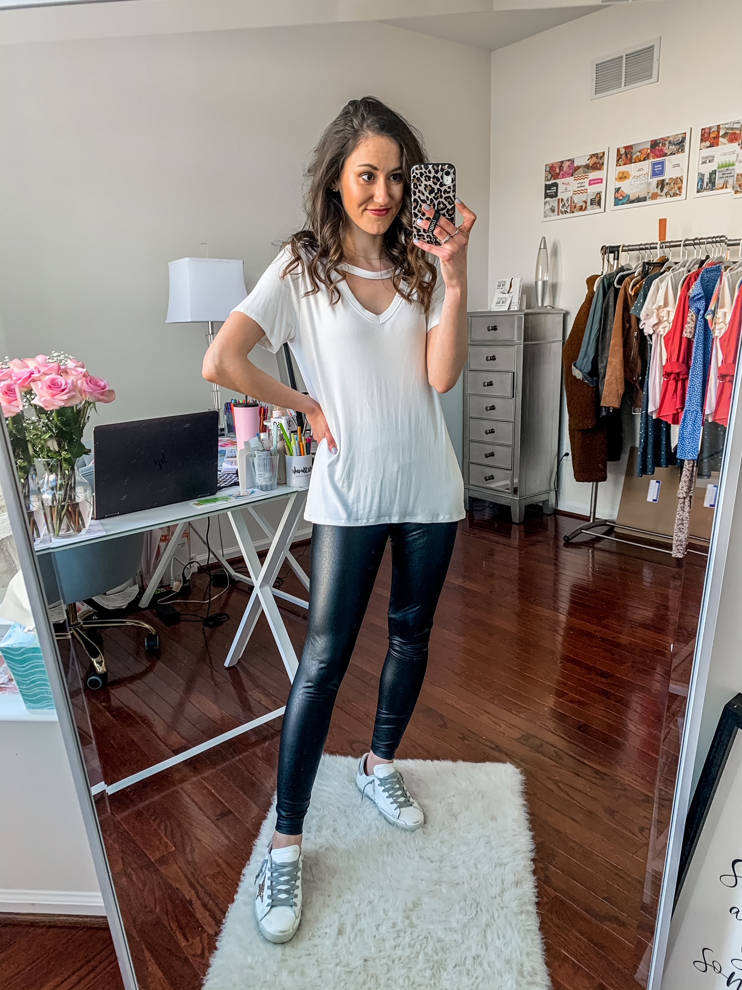 WALMART FASHION HAUL FOR SPRING - All under $50! - faux leather leggings
