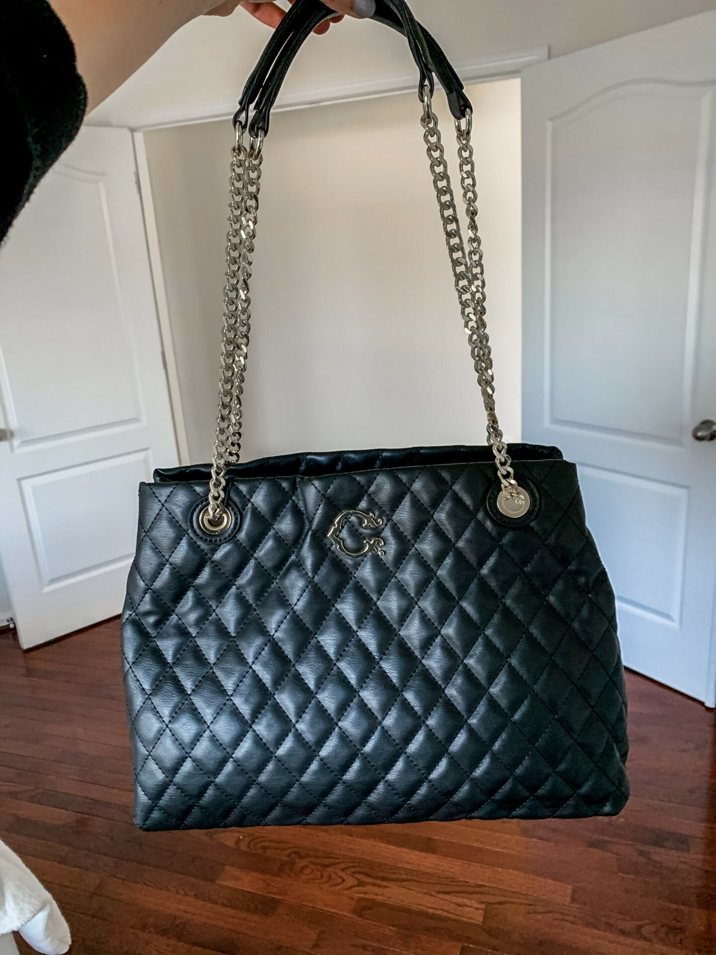 Black Chanel bag dupe from Walmart - on Coming Up Roses