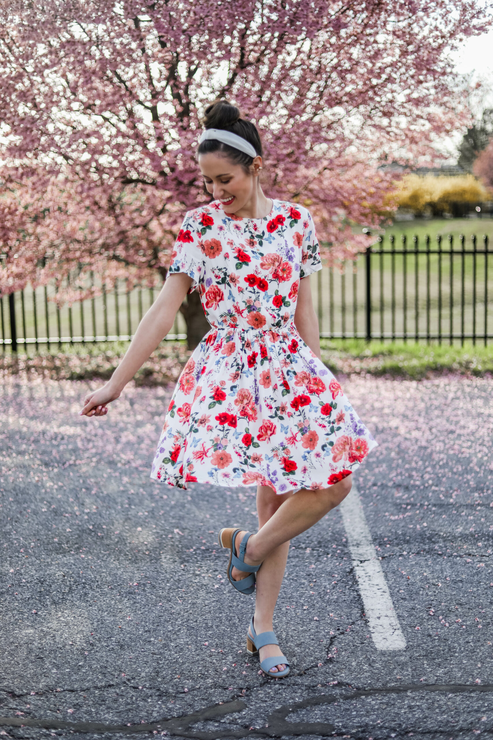 AFFORDABLE FLORAL DRESS - Under $30 amazon dress for spring occasions - on Coming Up Roses