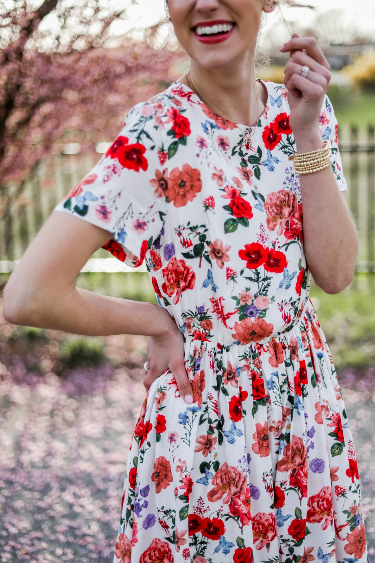 $28 FLORAL DRESS FOR SPRING - affordable floral dress from Amazon that is SO BEAUTIFUL! - on Coming Up Roses