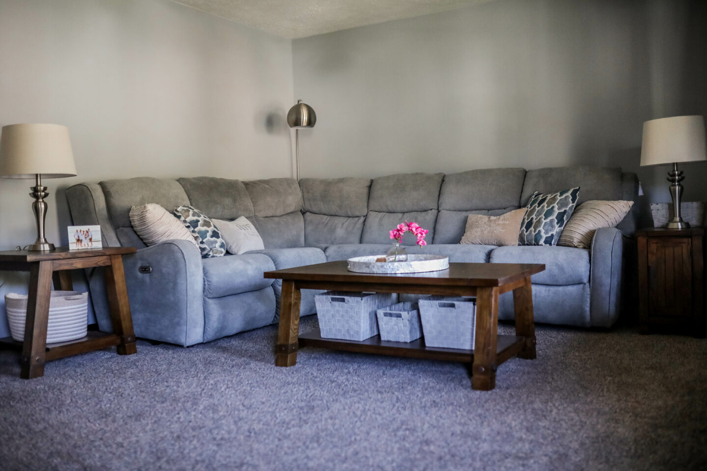 LIVING ROOM MAKEOVER - Totally transforming my parent's living room with Raymour & Flanigan!