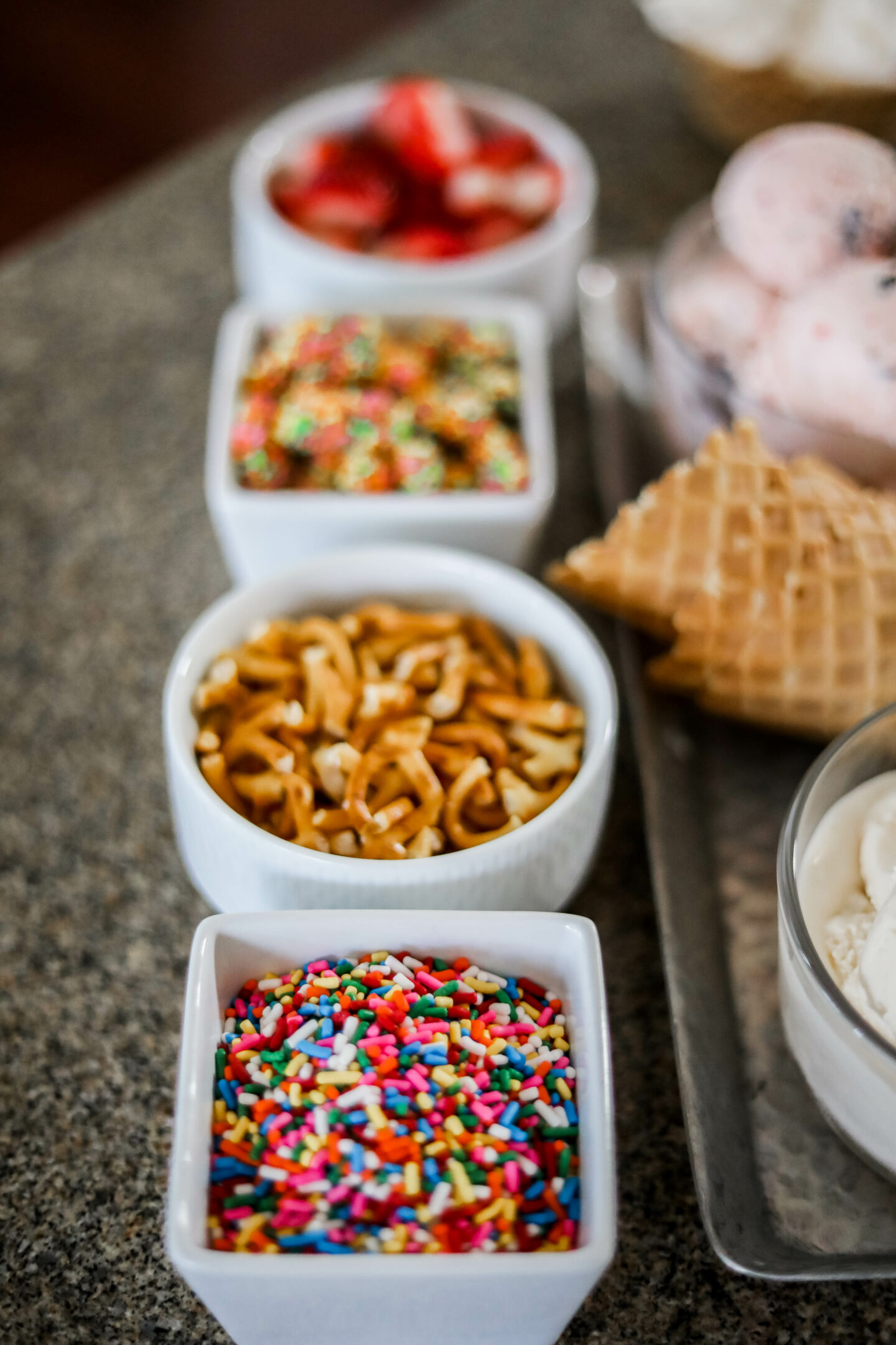 DIY ICE CREAM BAR - with Hudsonville ice cream, on Coming Up Roses
